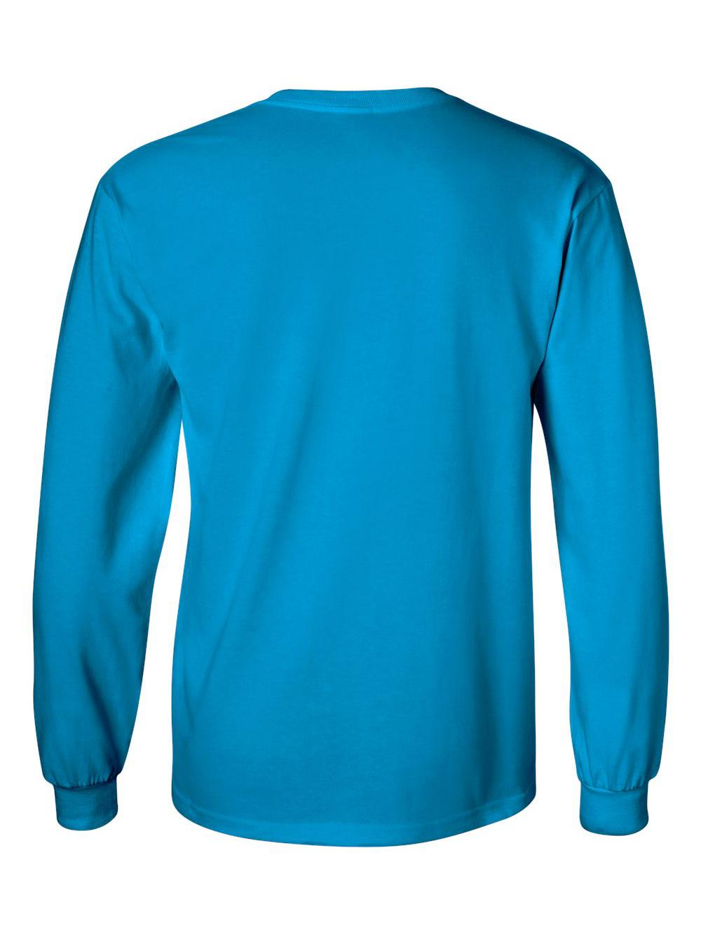 Gildan-Ultra-Cotton-Long-Sleeve-T-Shirt-2400 thumbnail 76