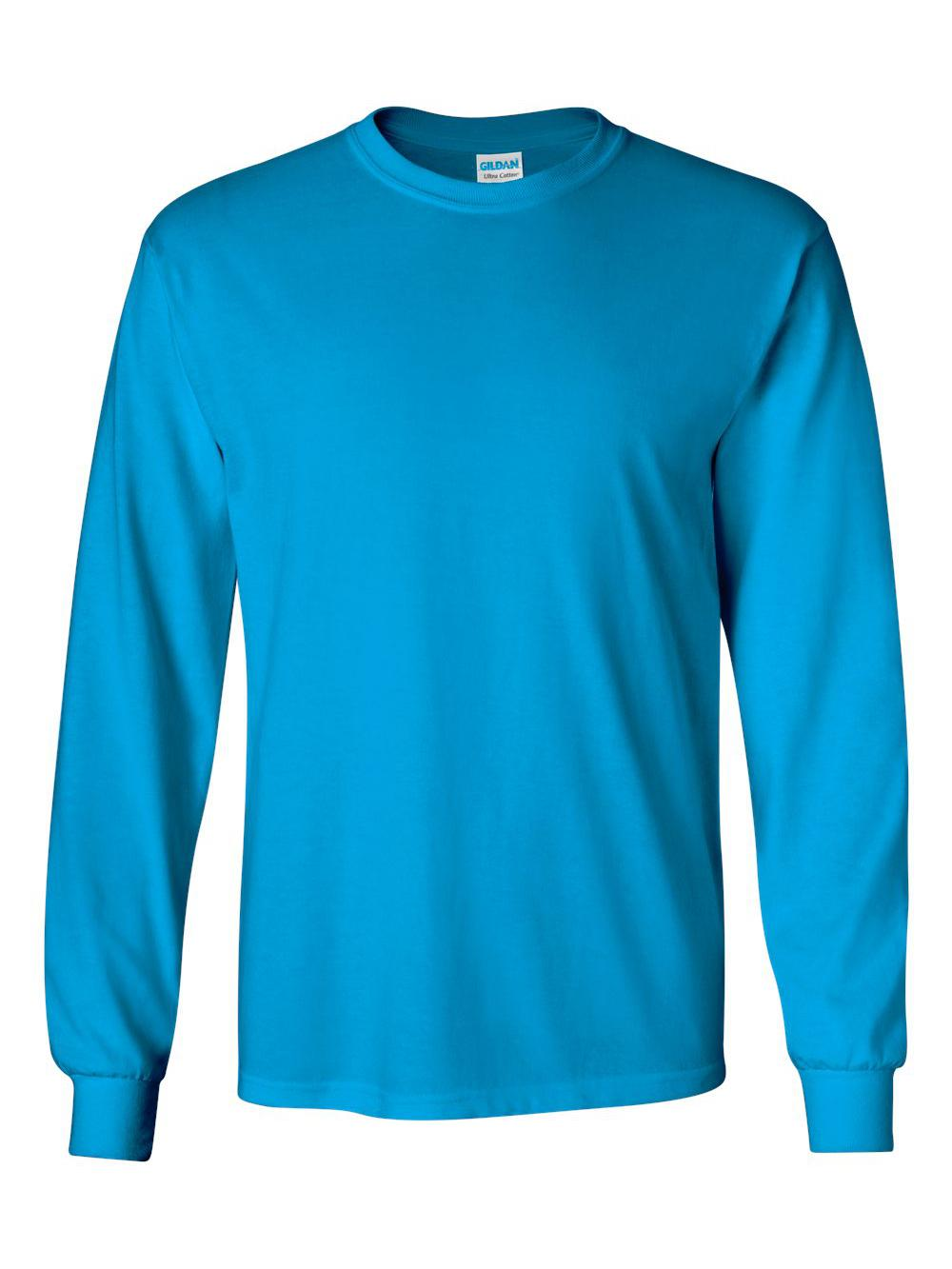 Gildan-Ultra-Cotton-Long-Sleeve-T-Shirt-2400 thumbnail 75