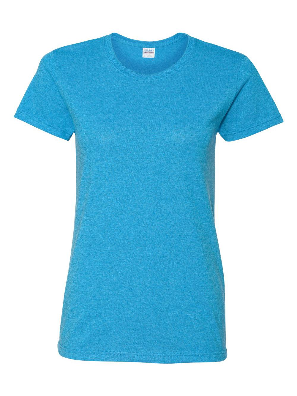 Gildan-Heavy-Cotton-Women-039-s-Short-Sleeve-T-Shirt-5000L thumbnail 54