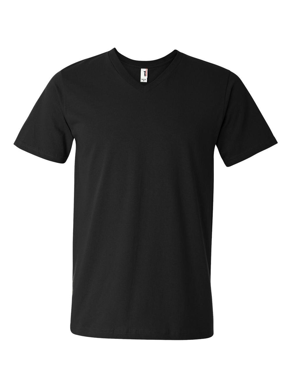 Anvil-Lightweight-Ringspun-V-Neck-T-Shirt-982 thumbnail 3
