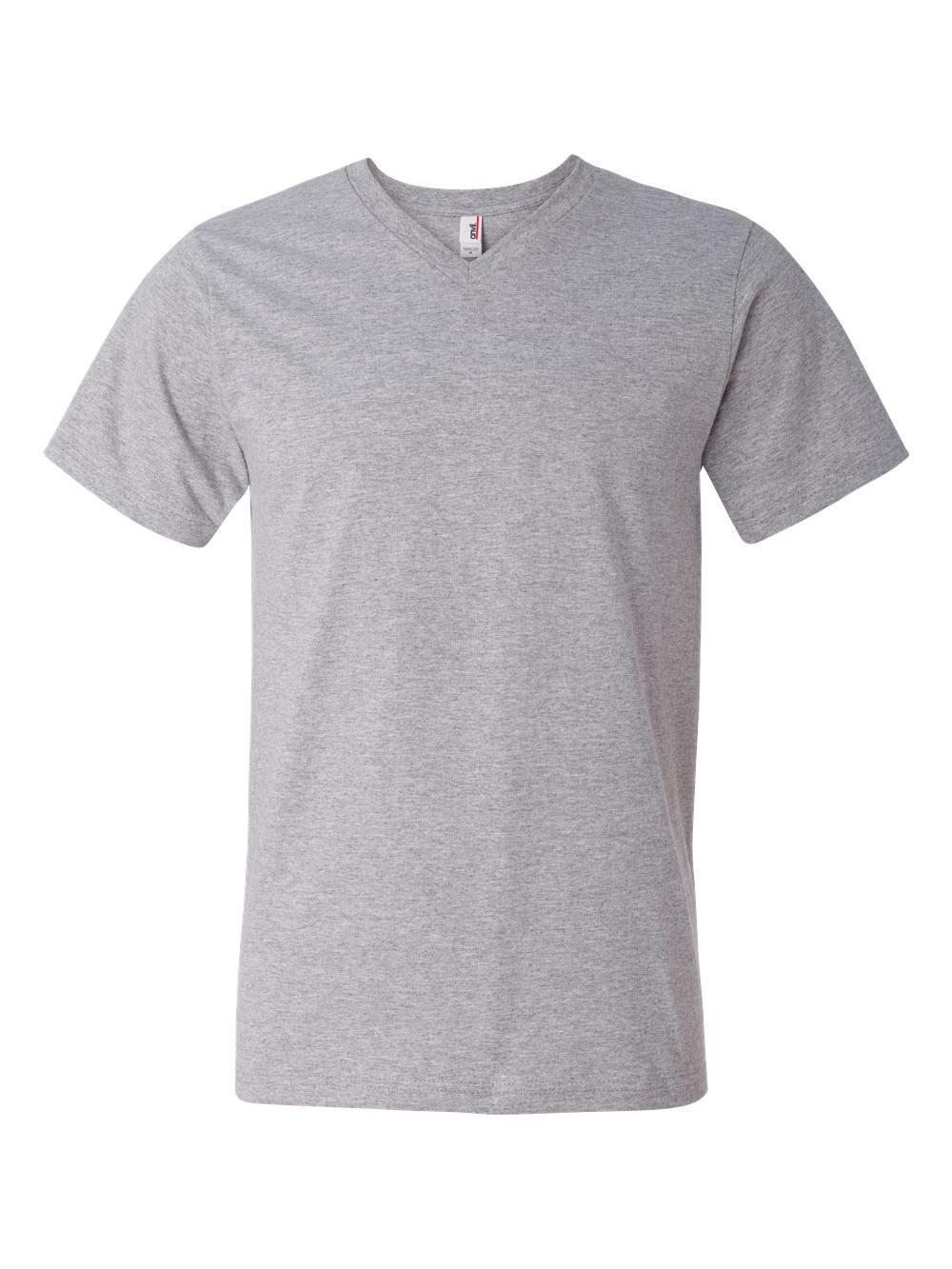 Anvil-Lightweight-Ringspun-V-Neck-T-Shirt-982 thumbnail 12