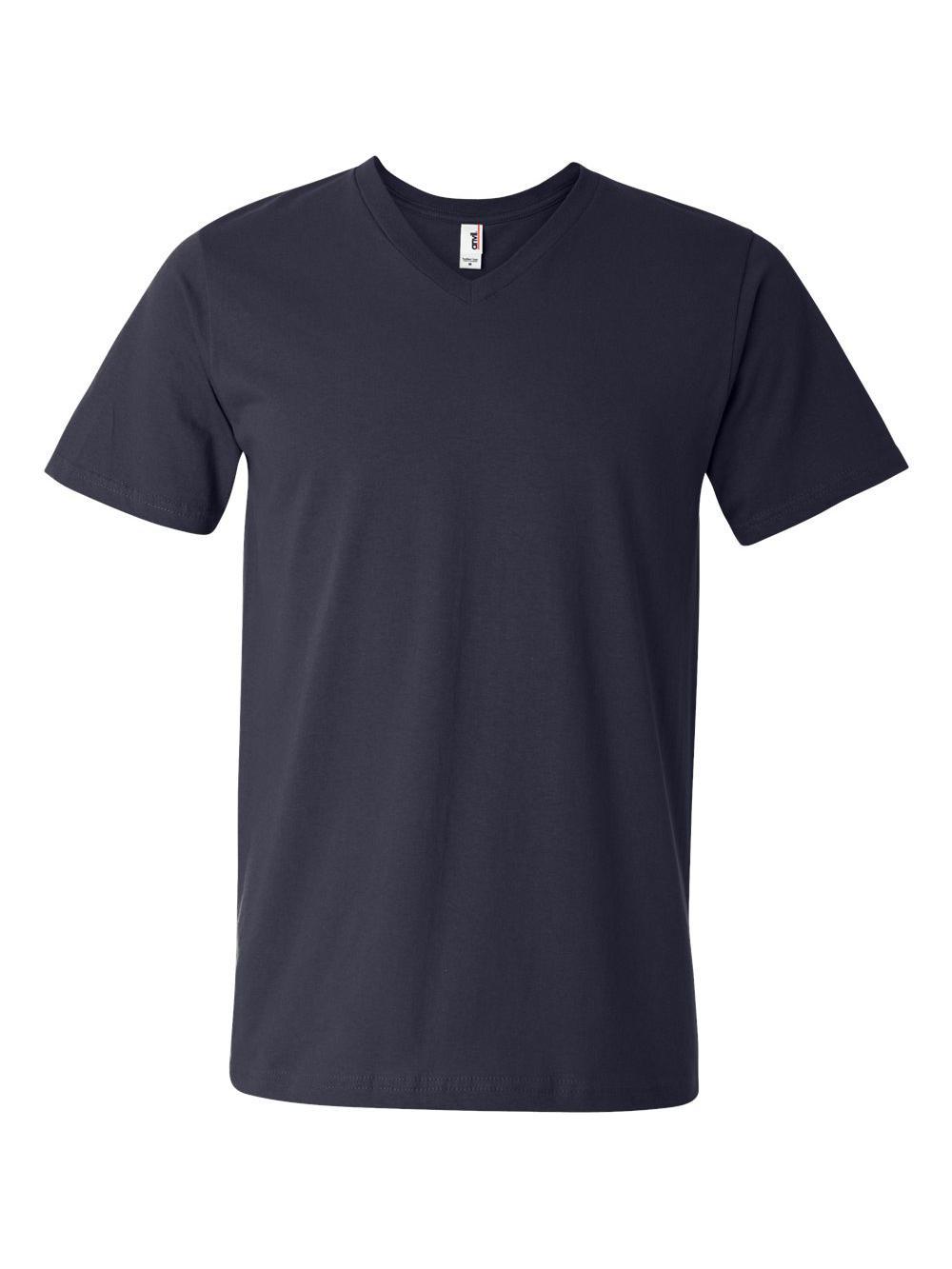 Anvil-Lightweight-Ringspun-V-Neck-T-Shirt-982 thumbnail 21
