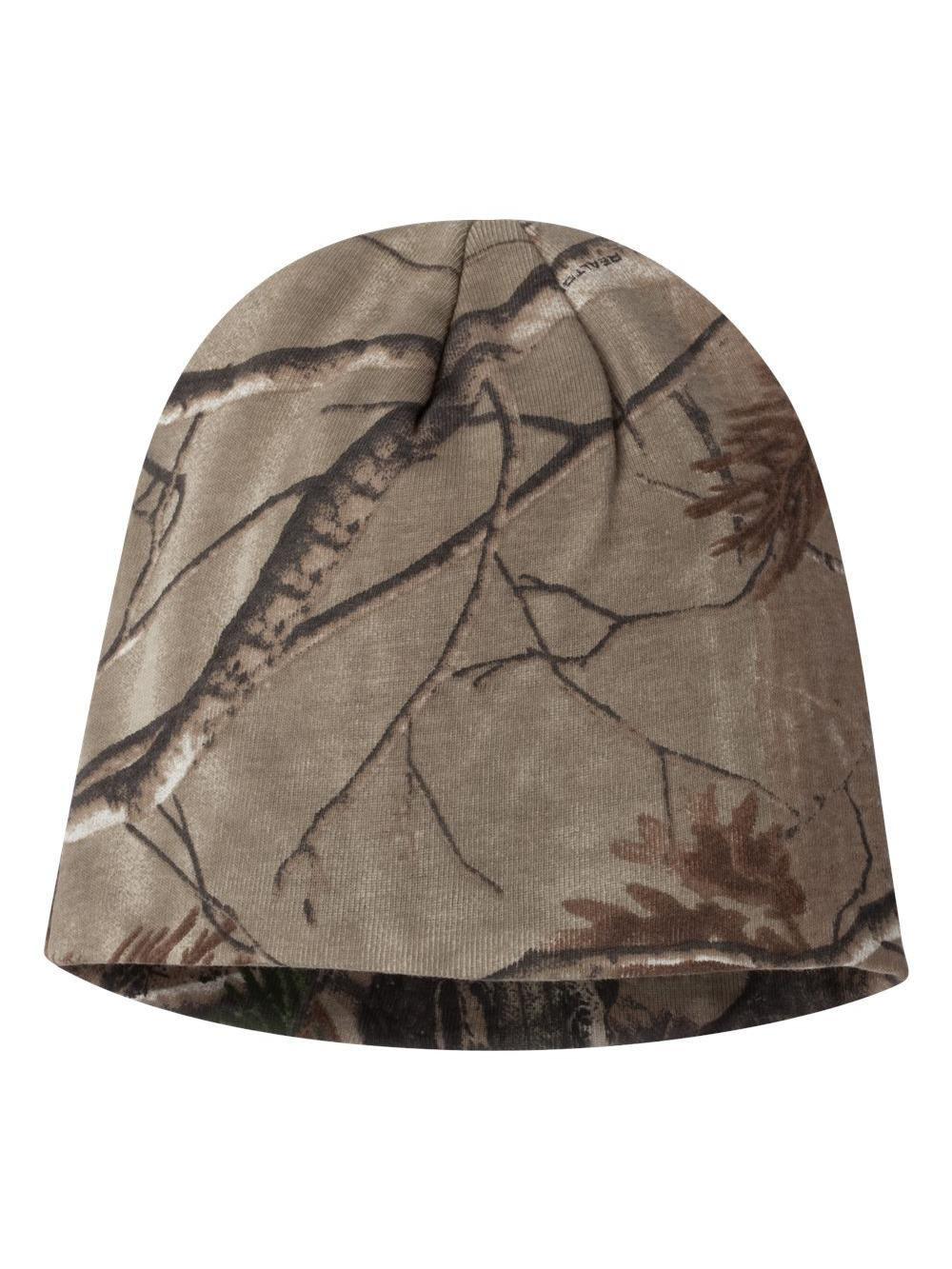 """MAX 5 Kati Camo Realtree Knit Cap Beanie Hat 8/"""" LCB08 lined winter cold weather"""