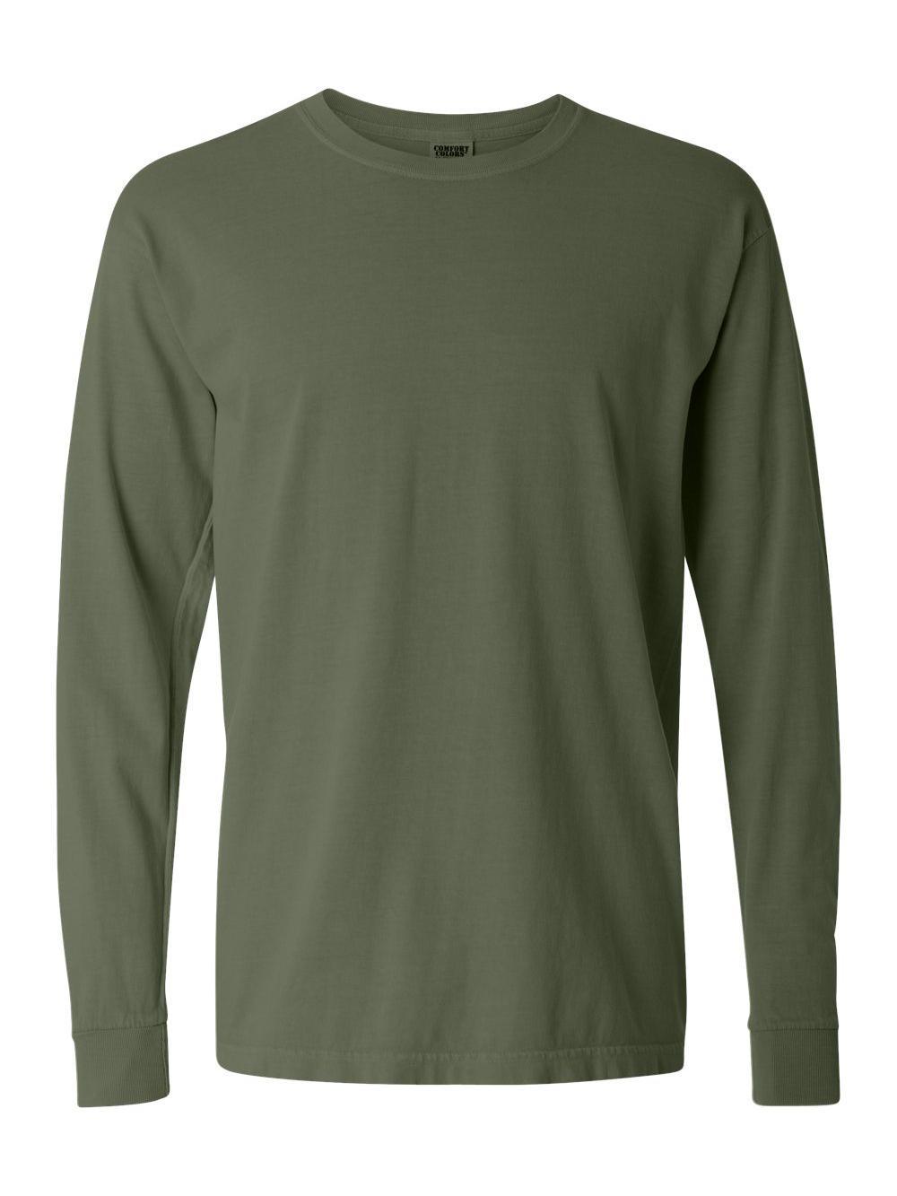 Comfort-Colors-Garment-Dyed-Heavyweight-Ringspun-Long-Sleeve-T-Shirt-6014 thumbnail 39