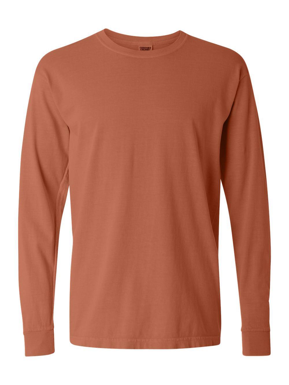 Comfort-Colors-Garment-Dyed-Heavyweight-Ringspun-Long-Sleeve-T-Shirt-6014 thumbnail 75