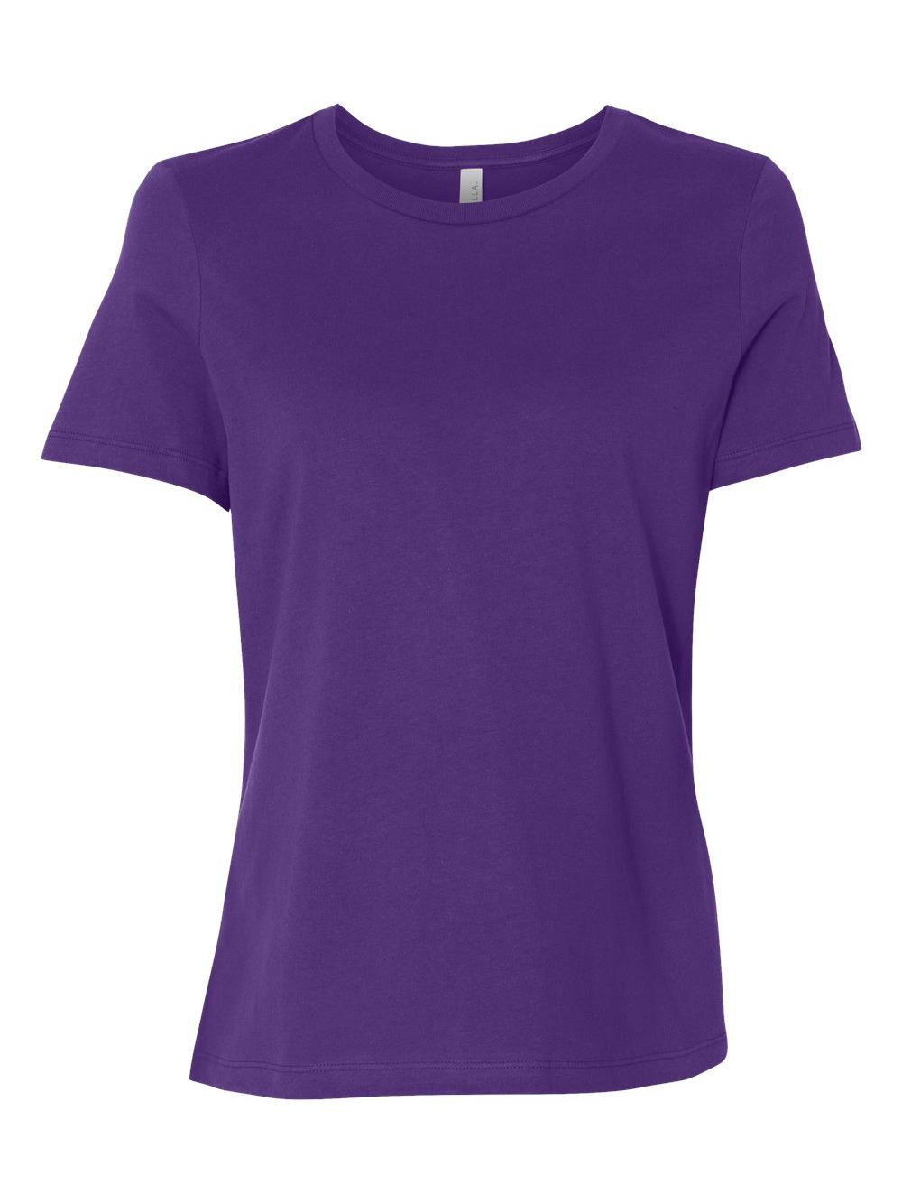 Bella-Canvas-Women-039-s-Relaxed-Short-Sleeve-Jersey-Tee-6400 thumbnail 84