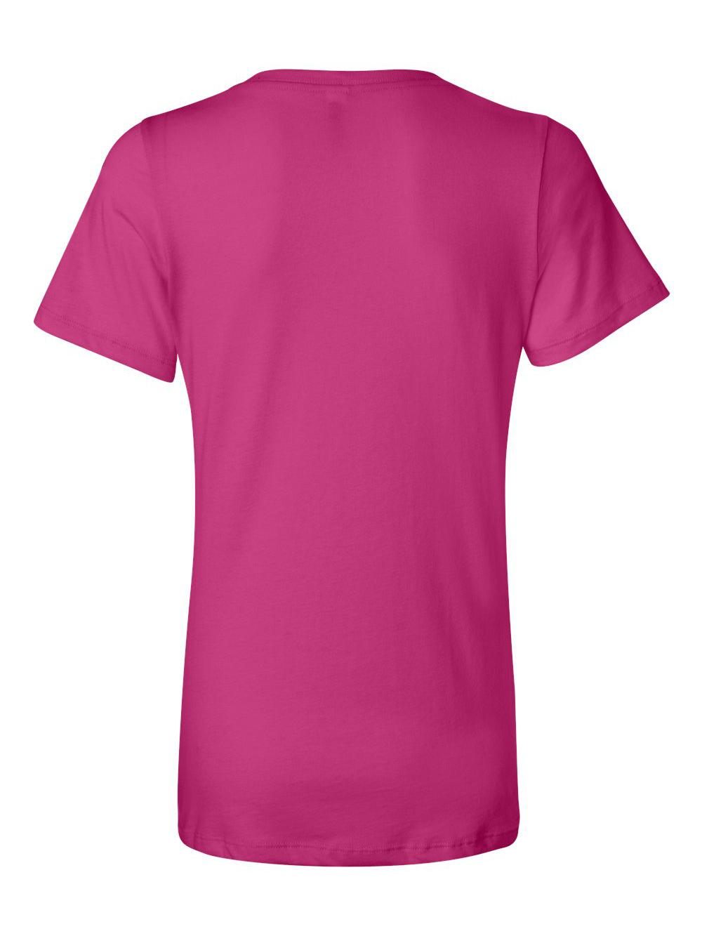 Bella-Canvas-Women-039-s-Relaxed-Short-Sleeve-Jersey-V-Neck-Tee-6405 thumbnail 7