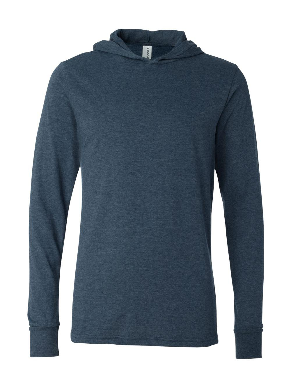 Bella-Canvas-Unisex-Long-Sleeve-Jersey-Hooded-Tee-3512 thumbnail 21