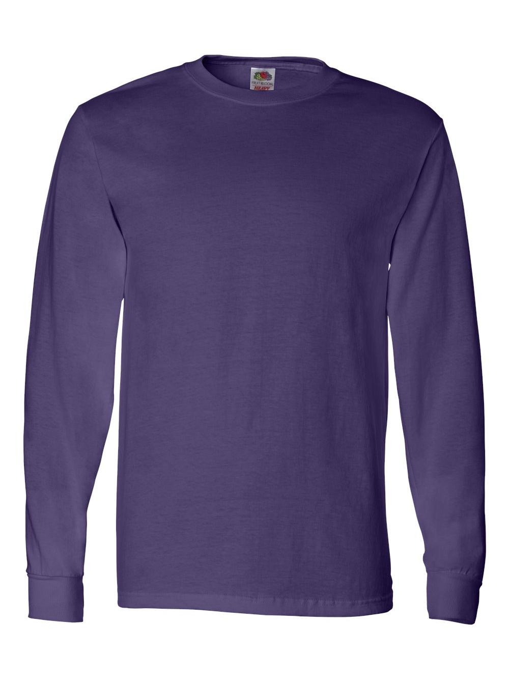 Fruit-of-the-Loom-HD-Cotton-Long-Sleeve-T-Shirt-4930R thumbnail 57