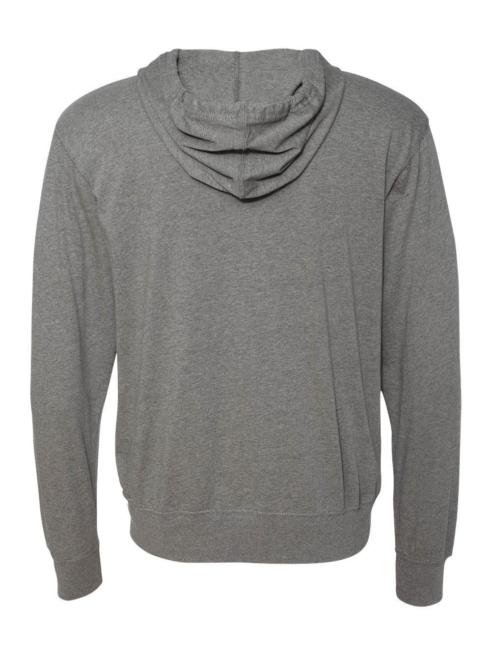 Lightweight Jersey Hooded Full-Zip T-Shirt Independent Trading Co SS150JZ