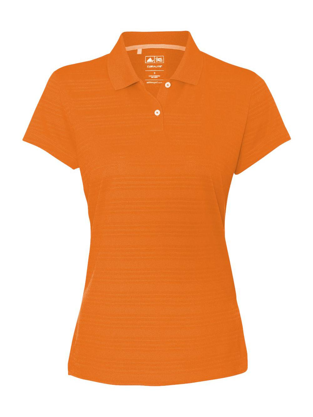Adidas-Golf-Women-039-s-ClimaLite-Textured-Short-Sleeve-Polo-A162 thumbnail 3