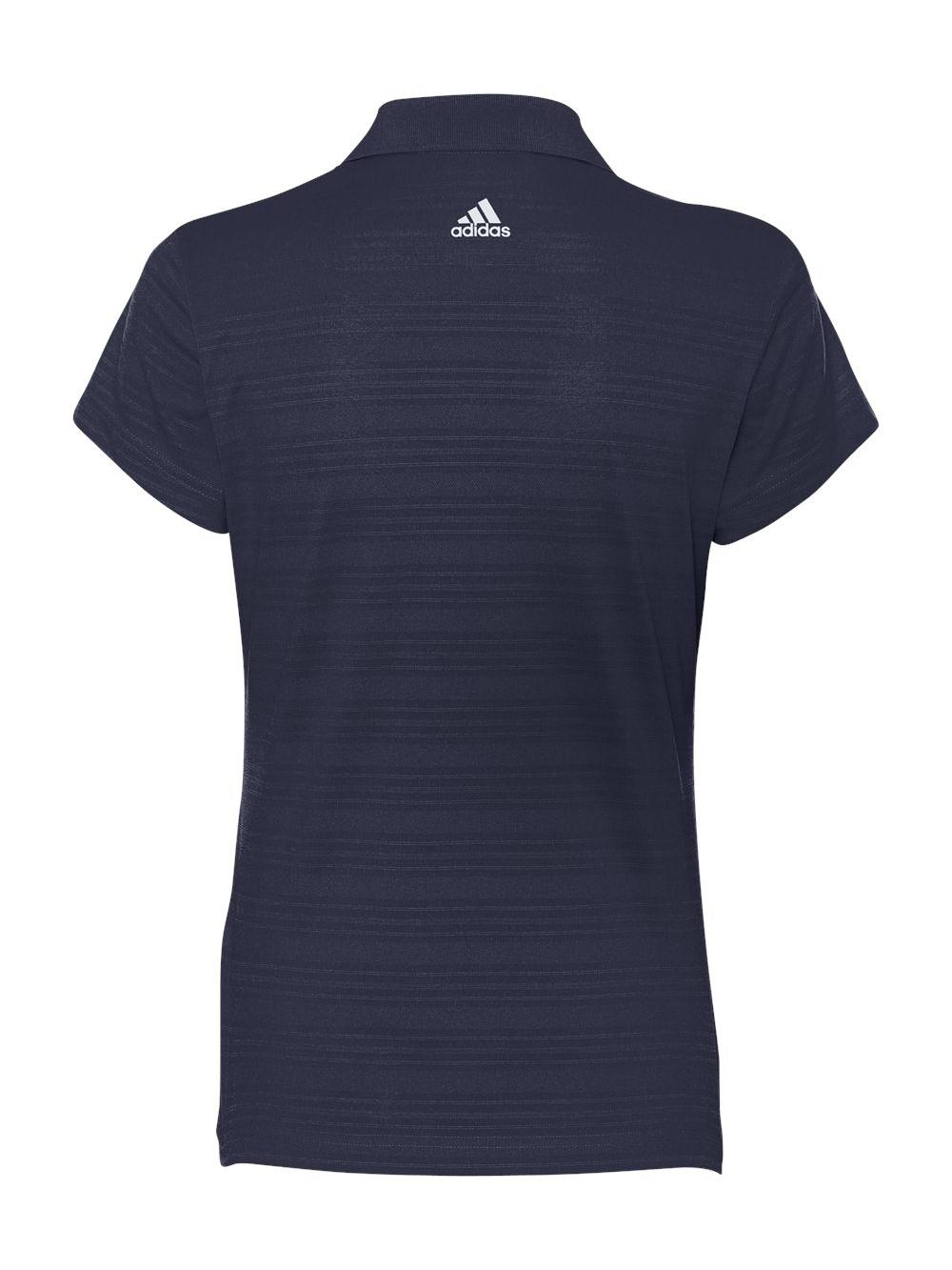 Adidas-Golf-Women-039-s-ClimaLite-Textured-Short-Sleeve-Polo-A162 thumbnail 7