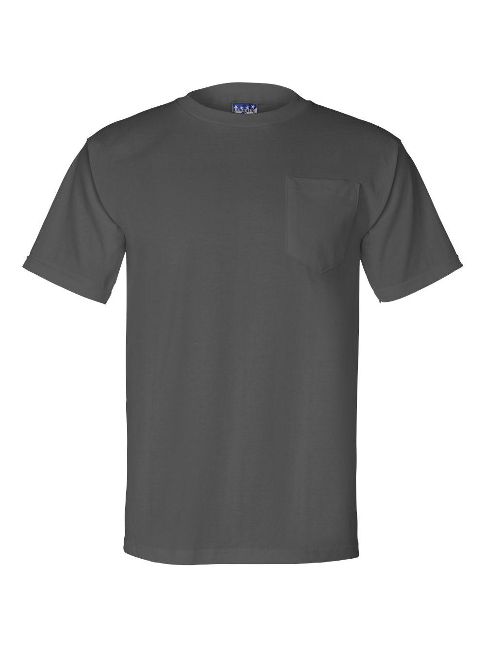 Bayside-Union-Made-Short-Sleeve-T-Shirt-with-a-Pocket-3015 thumbnail 9