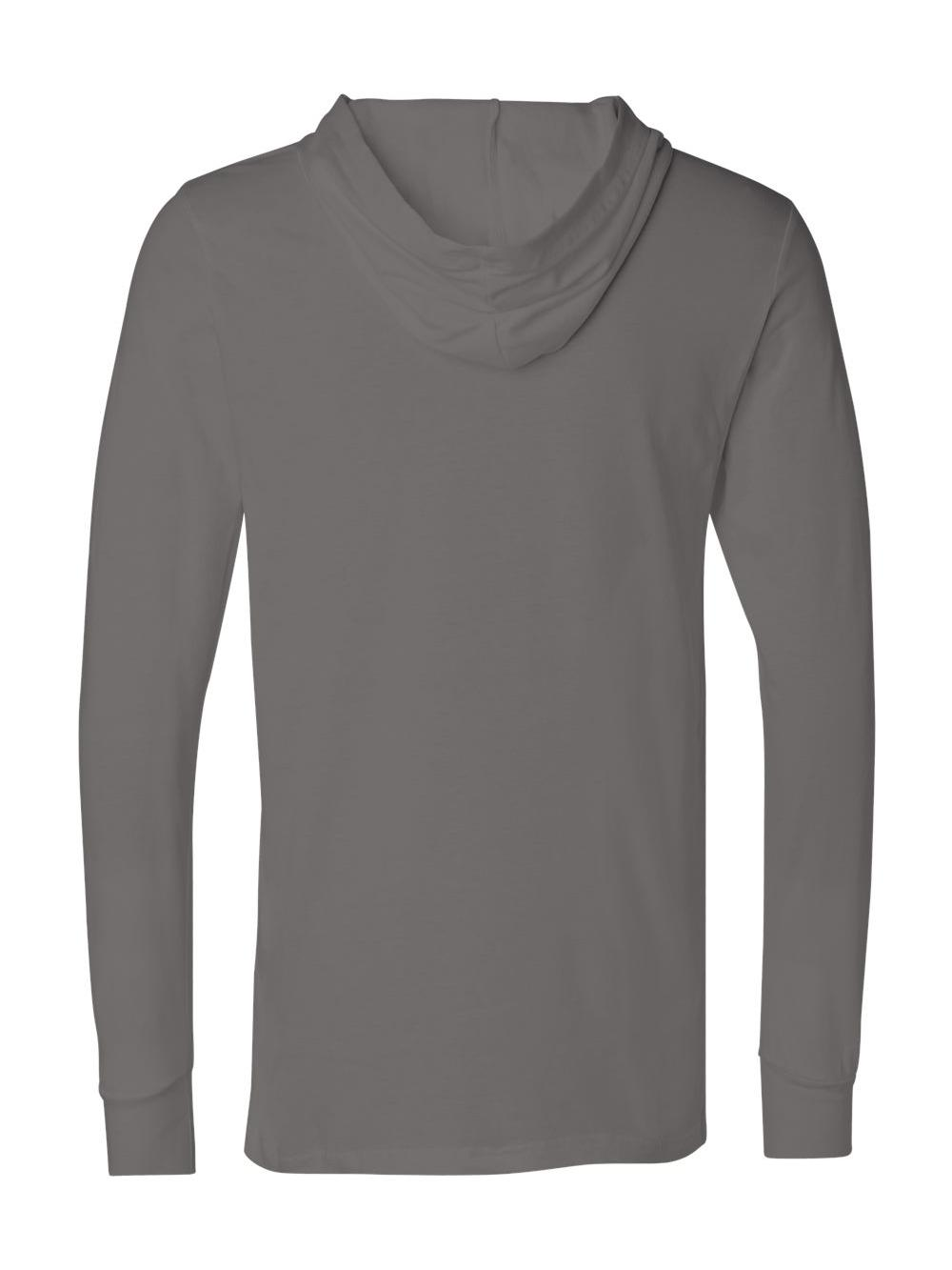 Bella-Canvas-Unisex-Long-Sleeve-Jersey-Hooded-Tee-3512 thumbnail 4