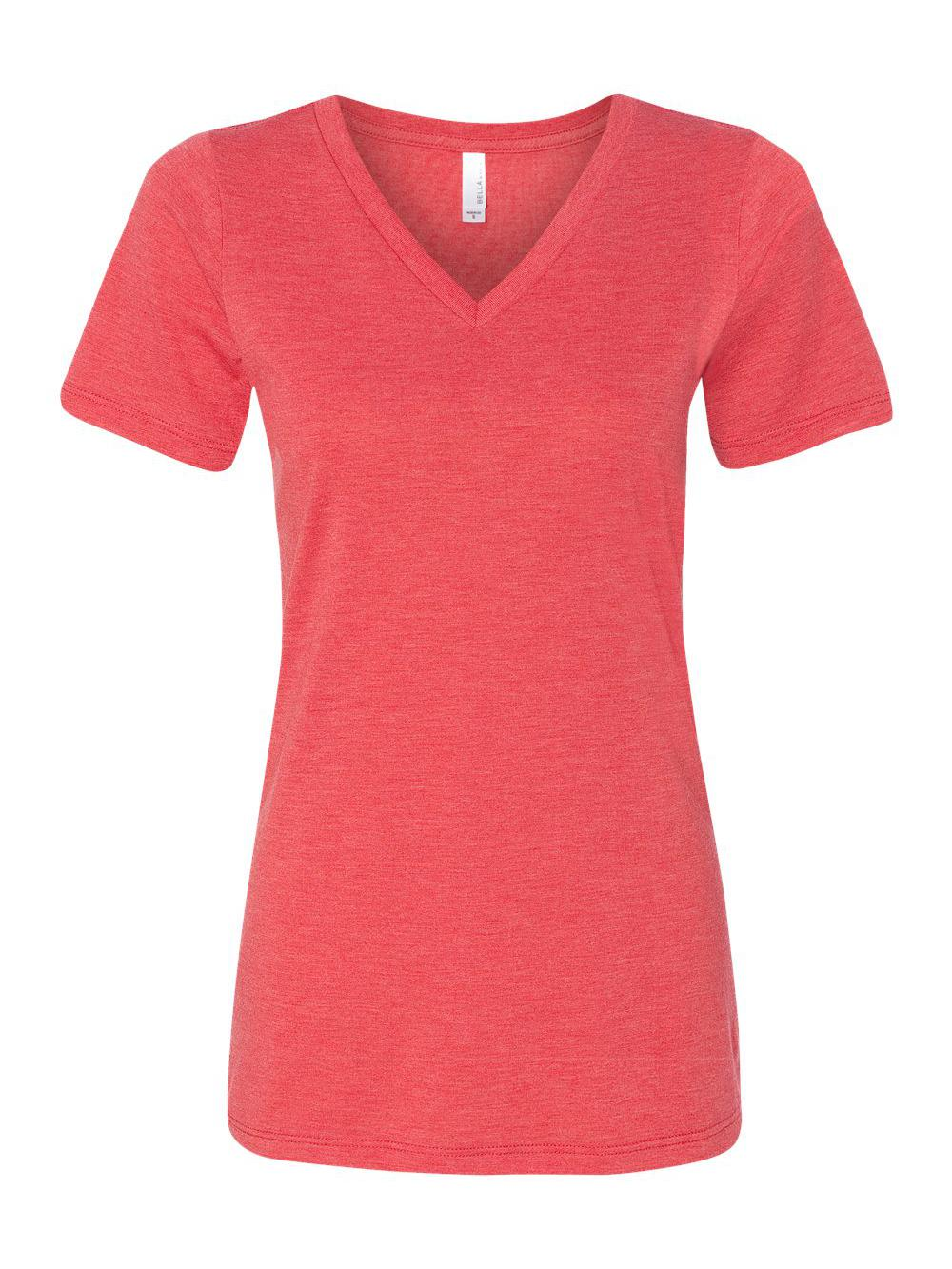 Bella-Canvas-Women-039-s-Relaxed-Short-Sleeve-Jersey-V-Neck-Tee-6405 thumbnail 39