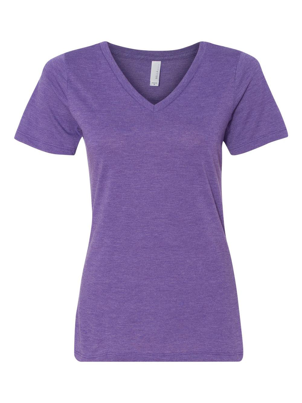 Bella-Canvas-Women-039-s-Relaxed-Short-Sleeve-Jersey-V-Neck-Tee-6405 thumbnail 33