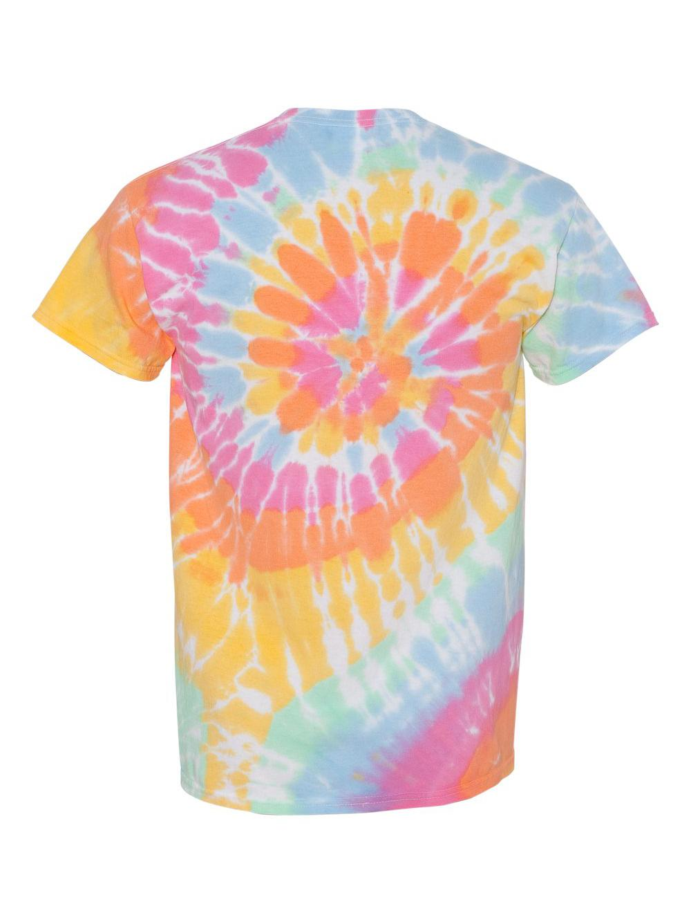 Dyenomite-Multi-Color-Spiral-Short-Sleeve-T-Shirt-200MS thumbnail 4