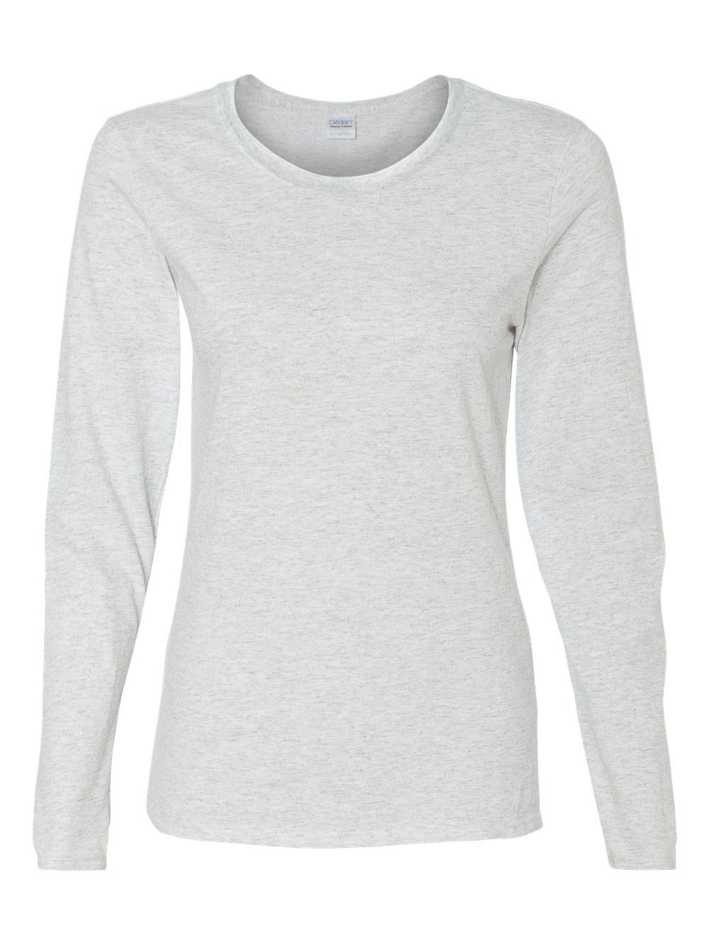 Gildan-Heavy-Cotton-Women-039-s-Long-Sleeve-T-Shirt-5400L thumbnail 3