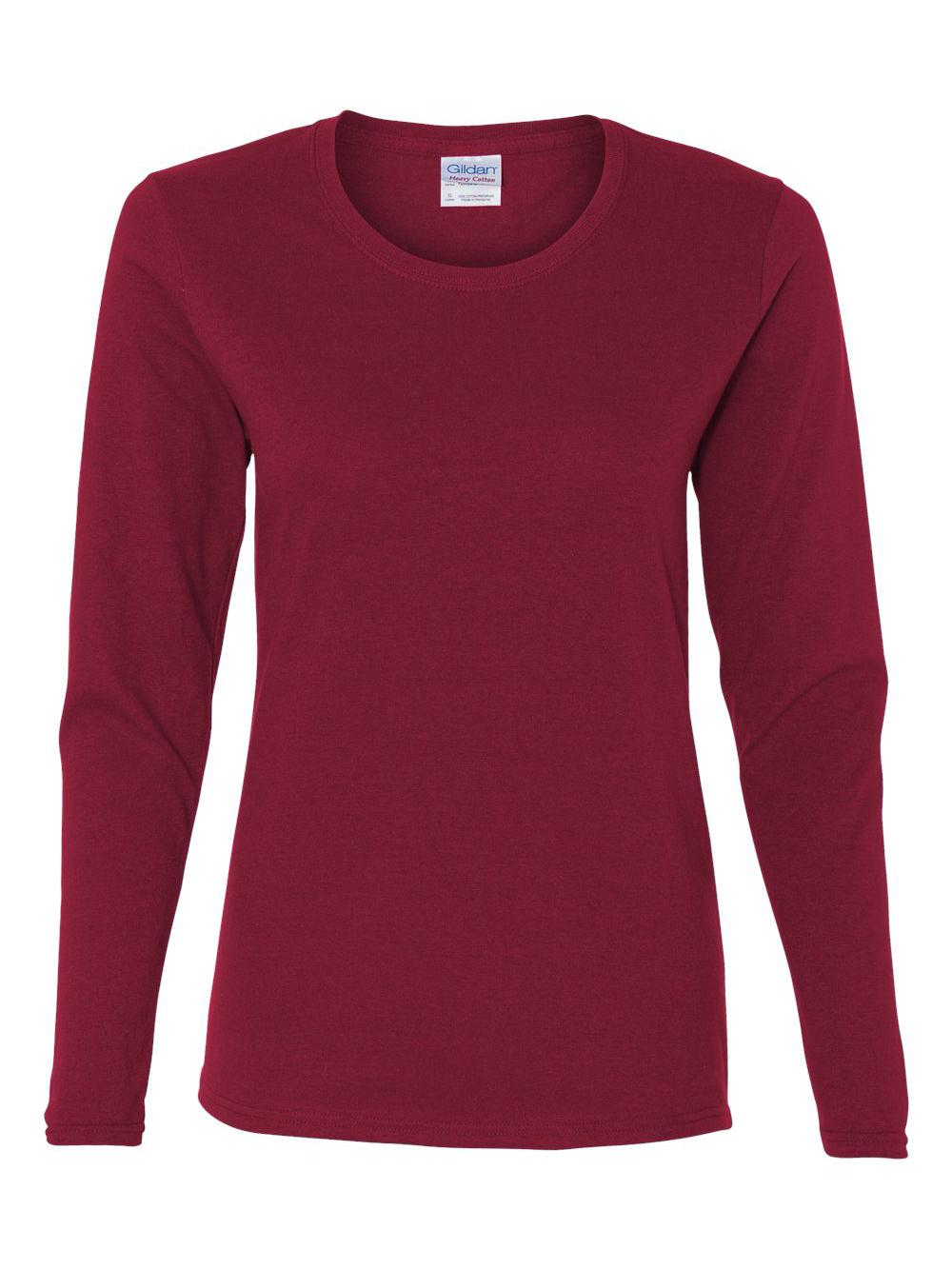 Gildan-Heavy-Cotton-Women-039-s-Long-Sleeve-T-Shirt-5400L thumbnail 6