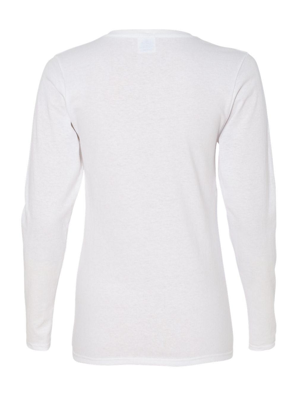 Gildan-Heavy-Cotton-Women-039-s-Long-Sleeve-T-Shirt-5400L thumbnail 4