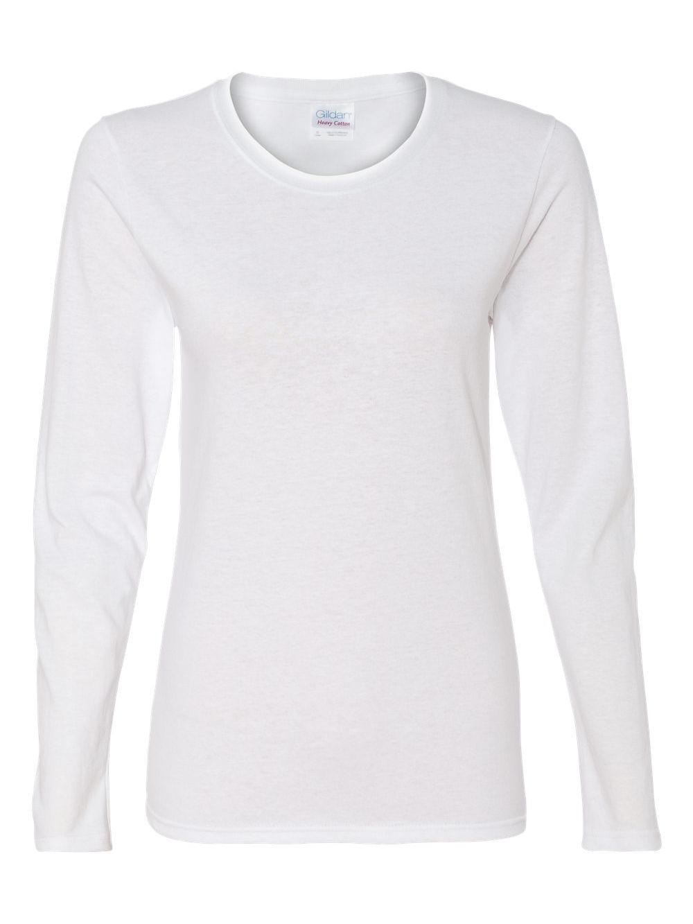 Gildan-Heavy-Cotton-Women-039-s-Long-Sleeve-T-Shirt-5400L thumbnail 9
