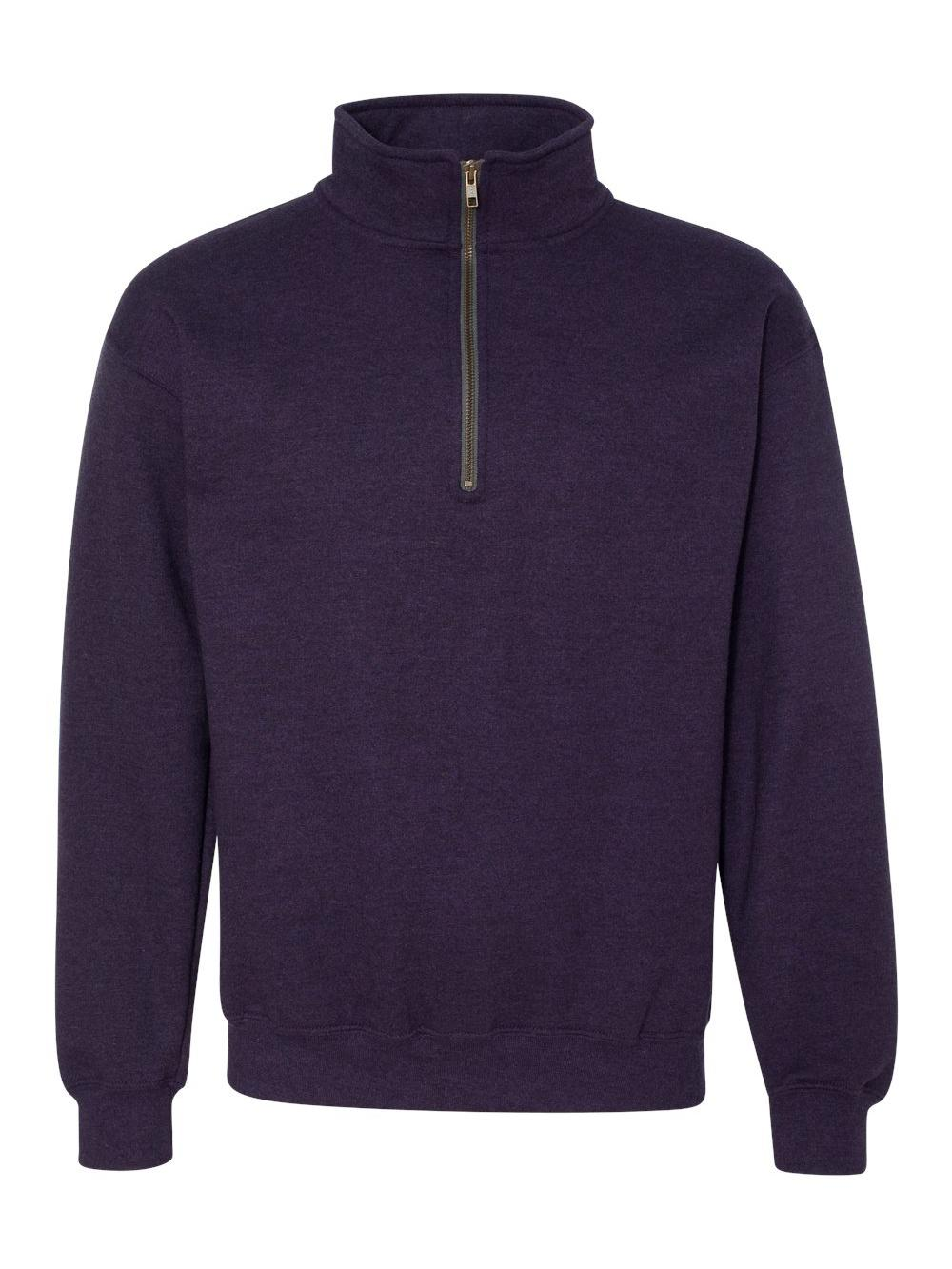 Gildan-Heavy-Blend-Quarter-Zip-Cadet-Collar-Sweatshirt-18800 thumbnail 6