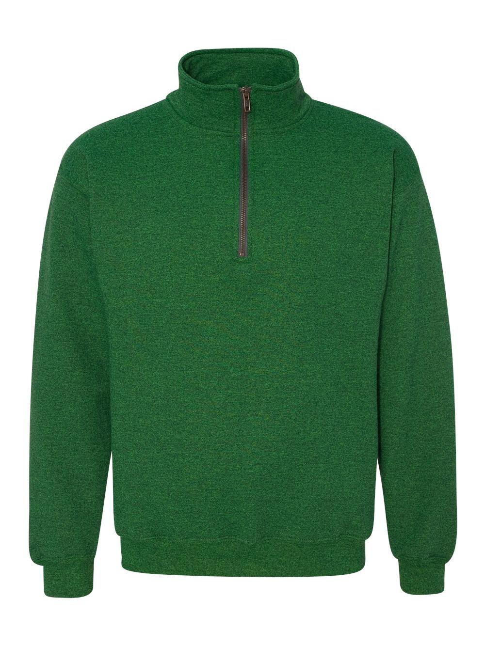 Gildan-Heavy-Blend-Quarter-Zip-Cadet-Collar-Sweatshirt-18800 thumbnail 15