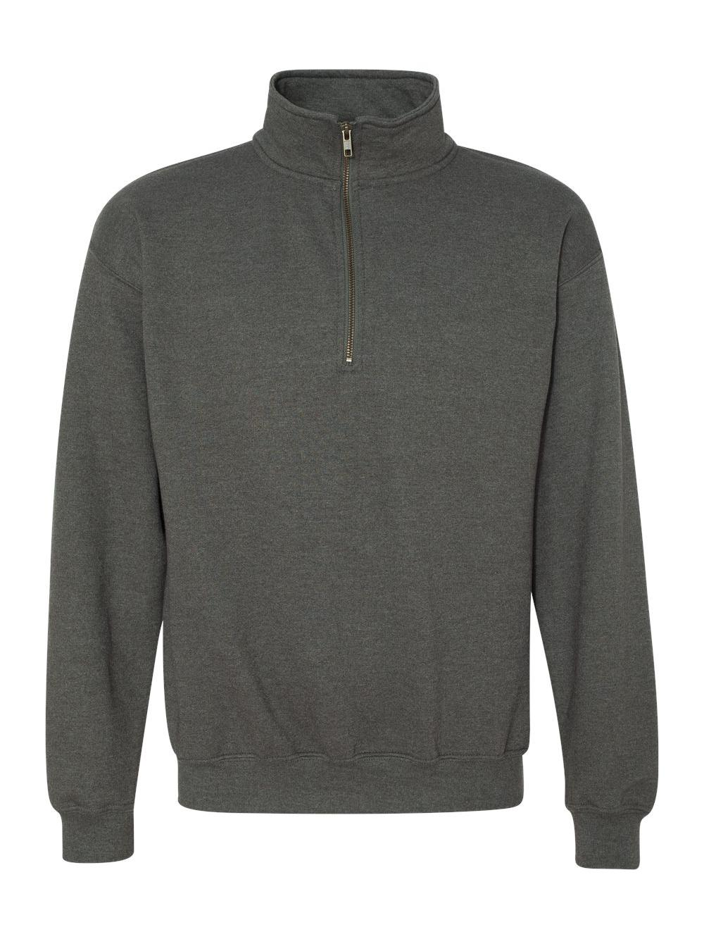 Gildan-Heavy-Blend-Quarter-Zip-Cadet-Collar-Sweatshirt-18800 thumbnail 33