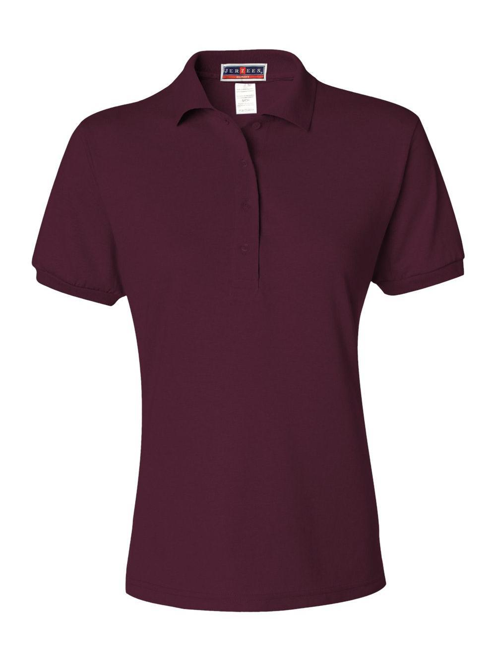 Jerzees-Women-039-s-Spotshield-50-50-Sport-Shirt-437WR thumbnail 24