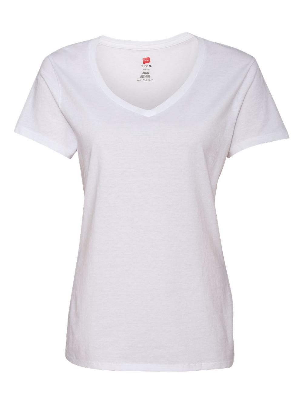 Hanes-Nano-T-Women-039-s-V-Neck-T-Shirt-S04V thumbnail 33