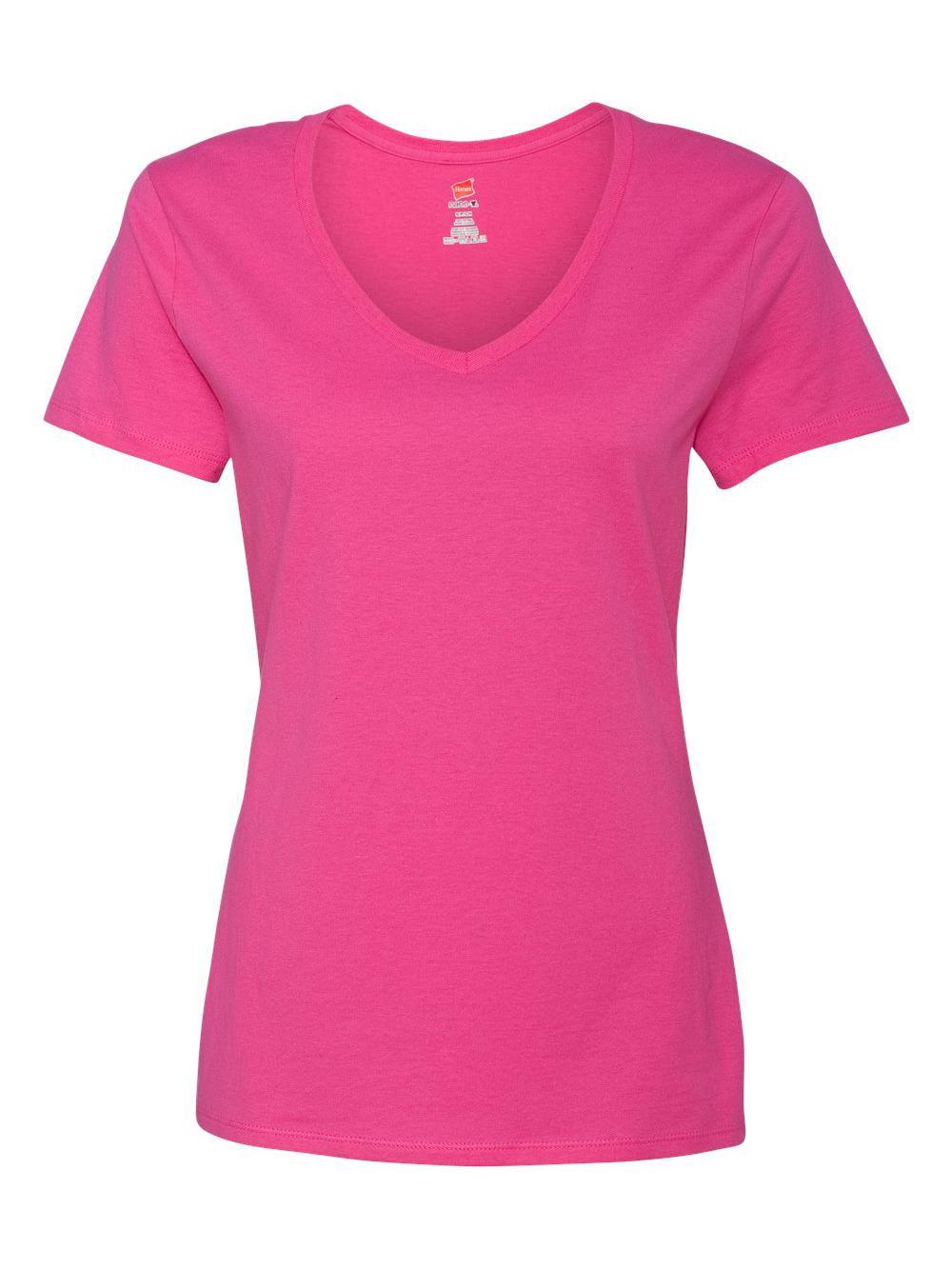 Hanes-Nano-T-Women-039-s-V-Neck-T-Shirt-S04V thumbnail 36