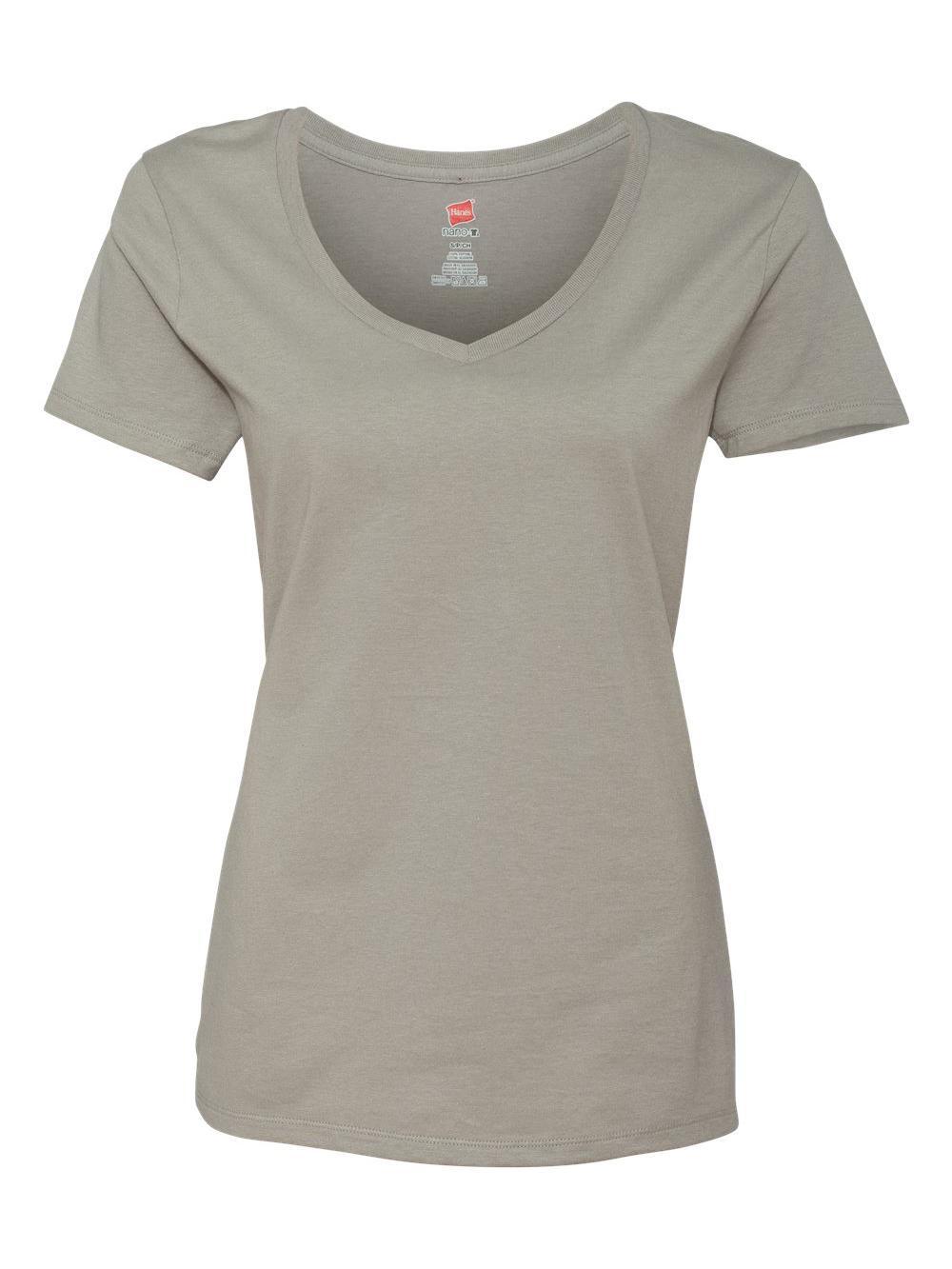 Hanes-Nano-T-Women-039-s-V-Neck-T-Shirt-S04V thumbnail 24