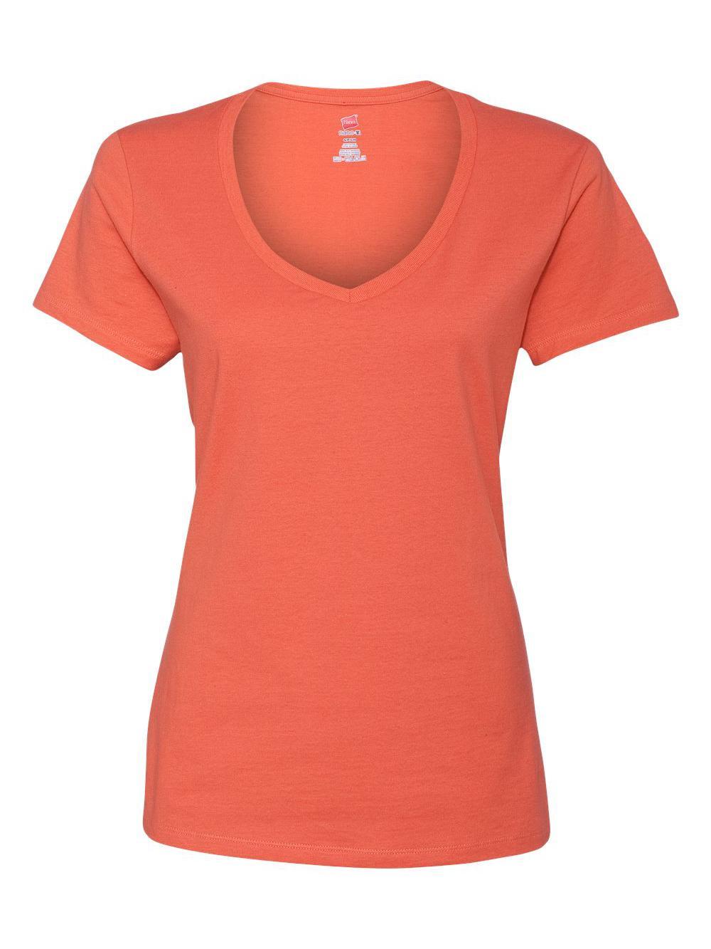 Hanes-Nano-T-Women-039-s-V-Neck-T-Shirt-S04V thumbnail 27