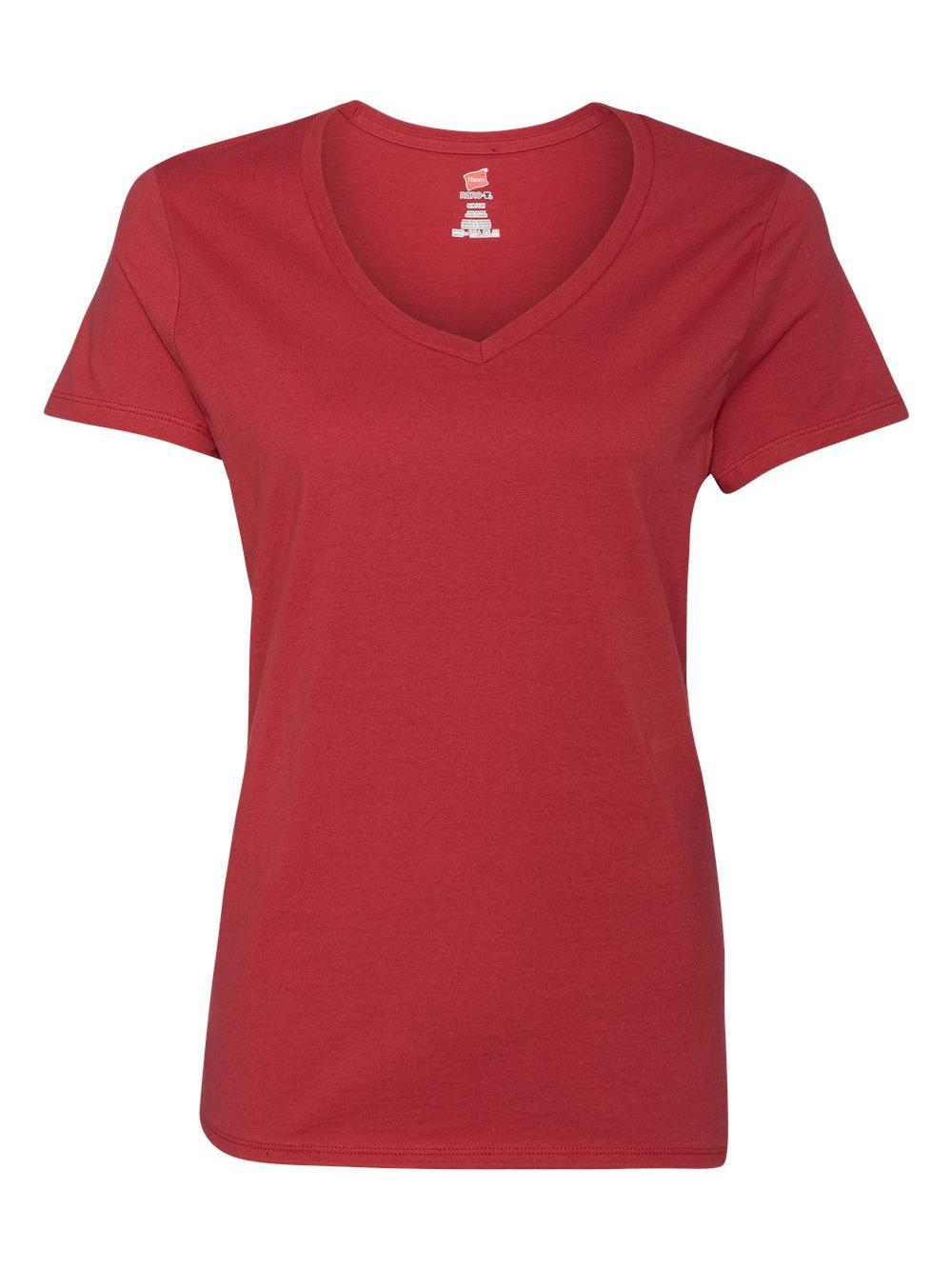 Hanes-Nano-T-Women-039-s-V-Neck-T-Shirt-S04V thumbnail 30
