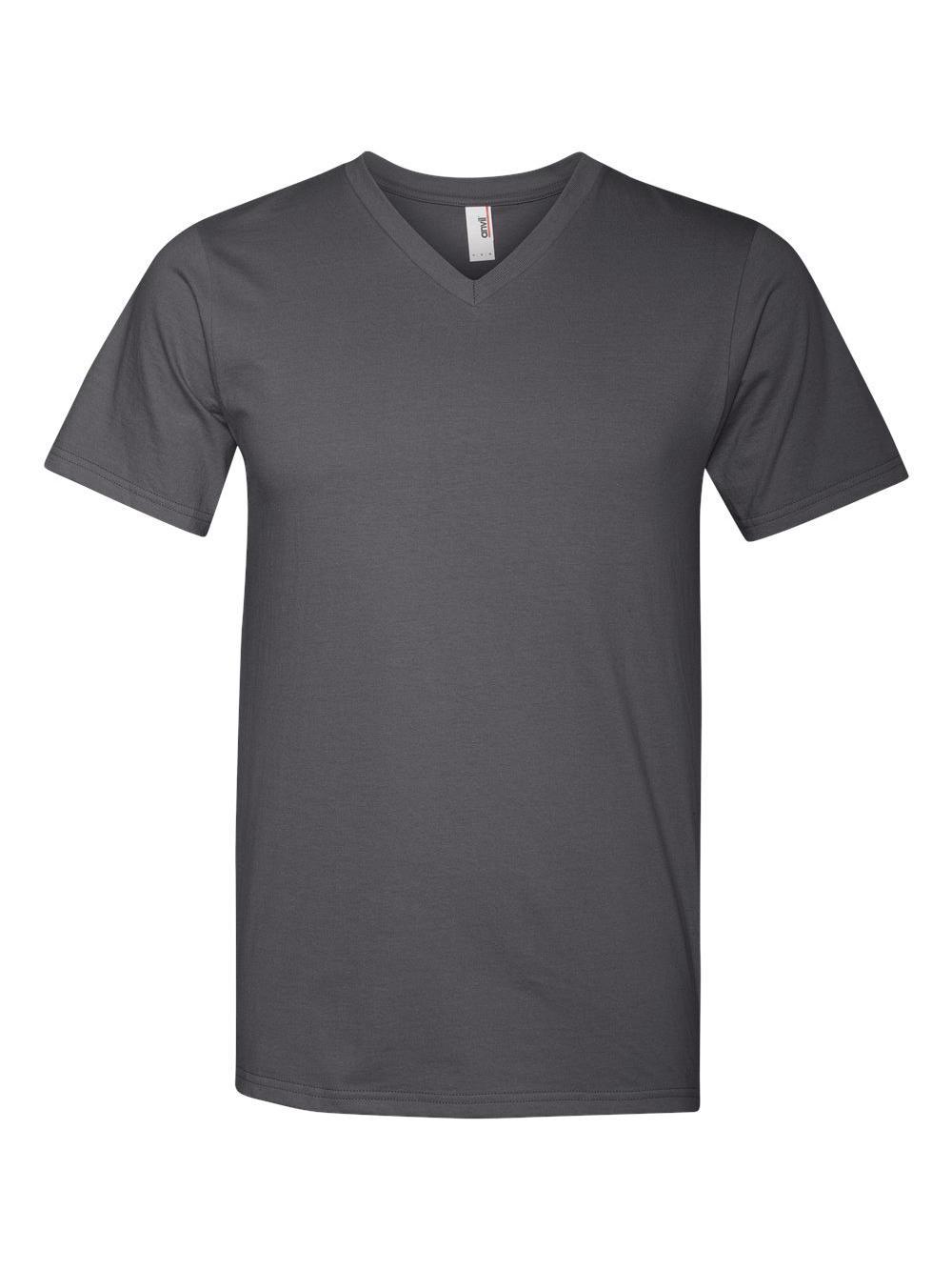 Anvil-Lightweight-Ringspun-V-Neck-T-Shirt-982 thumbnail 6