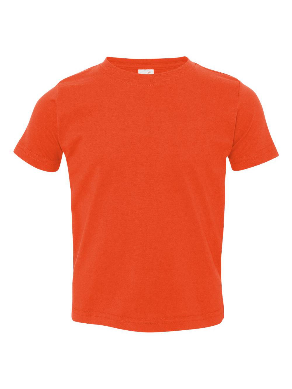 dab8e7242 Rabbit Skins Kids Tees Tops Fine Jersey Toddler T-shirt 3321 Orange 5/6  B31838666. About this product. Picture 1 of 4; Picture 2 of 4; Picture 3 of  4 ...