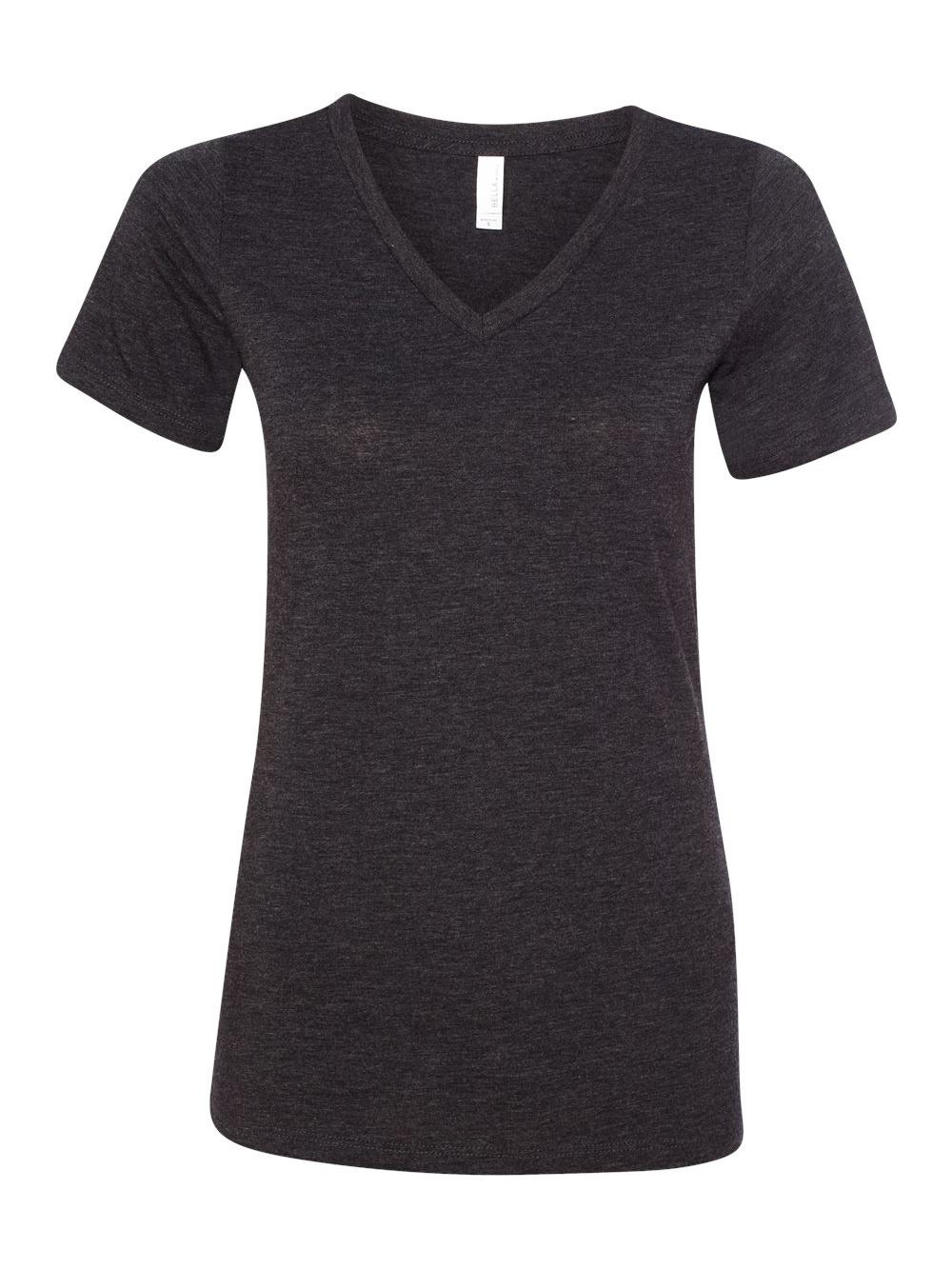 Bella-Canvas-Women-039-s-Relaxed-Short-Sleeve-Jersey-V-Neck-Tee-6405 thumbnail 15
