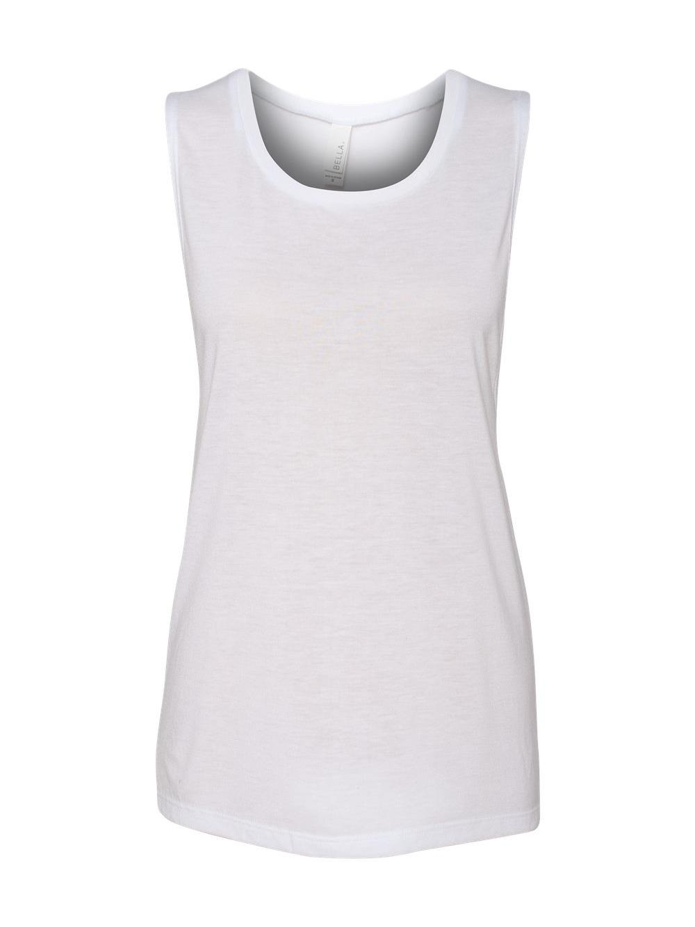 a41cb0d5084395 Bella Canvas Flowy Muscle Tank Tops Sleeveless Shirts 8803 White X ...