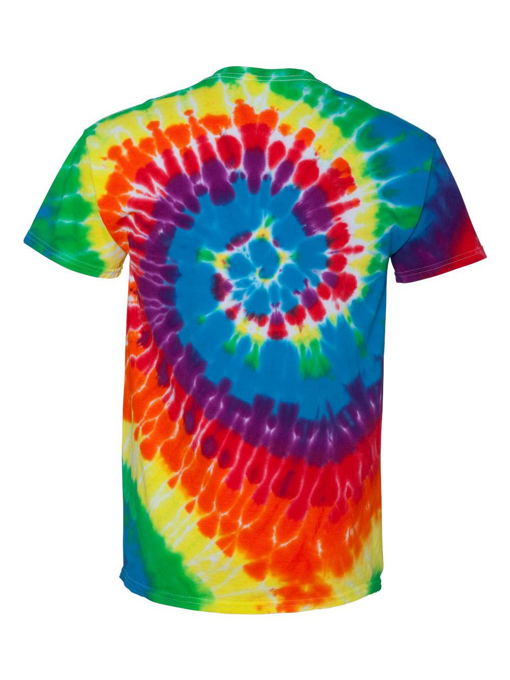 Dyenomite-Multi-Color-Spiral-Short-Sleeve-T-Shirt-200MS thumbnail 33