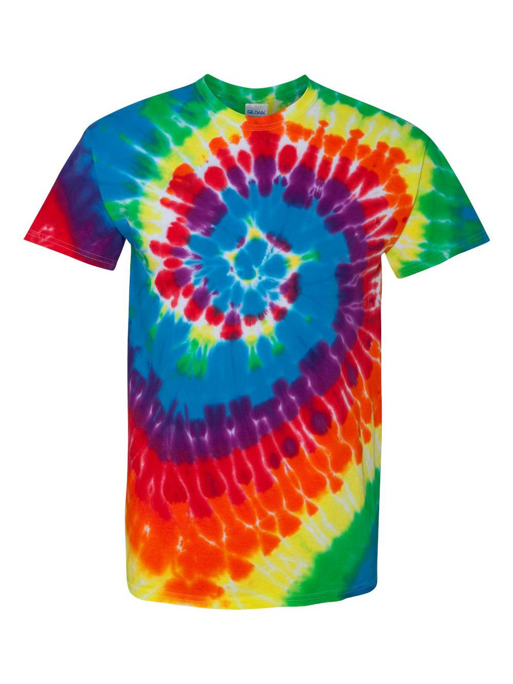 Dyenomite-Multi-Color-Spiral-Short-Sleeve-T-Shirt-200MS thumbnail 32