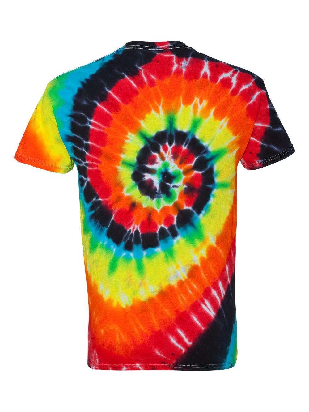 Dyenomite-Multi-Color-Spiral-Short-Sleeve-T-Shirt-200MS thumbnail 27