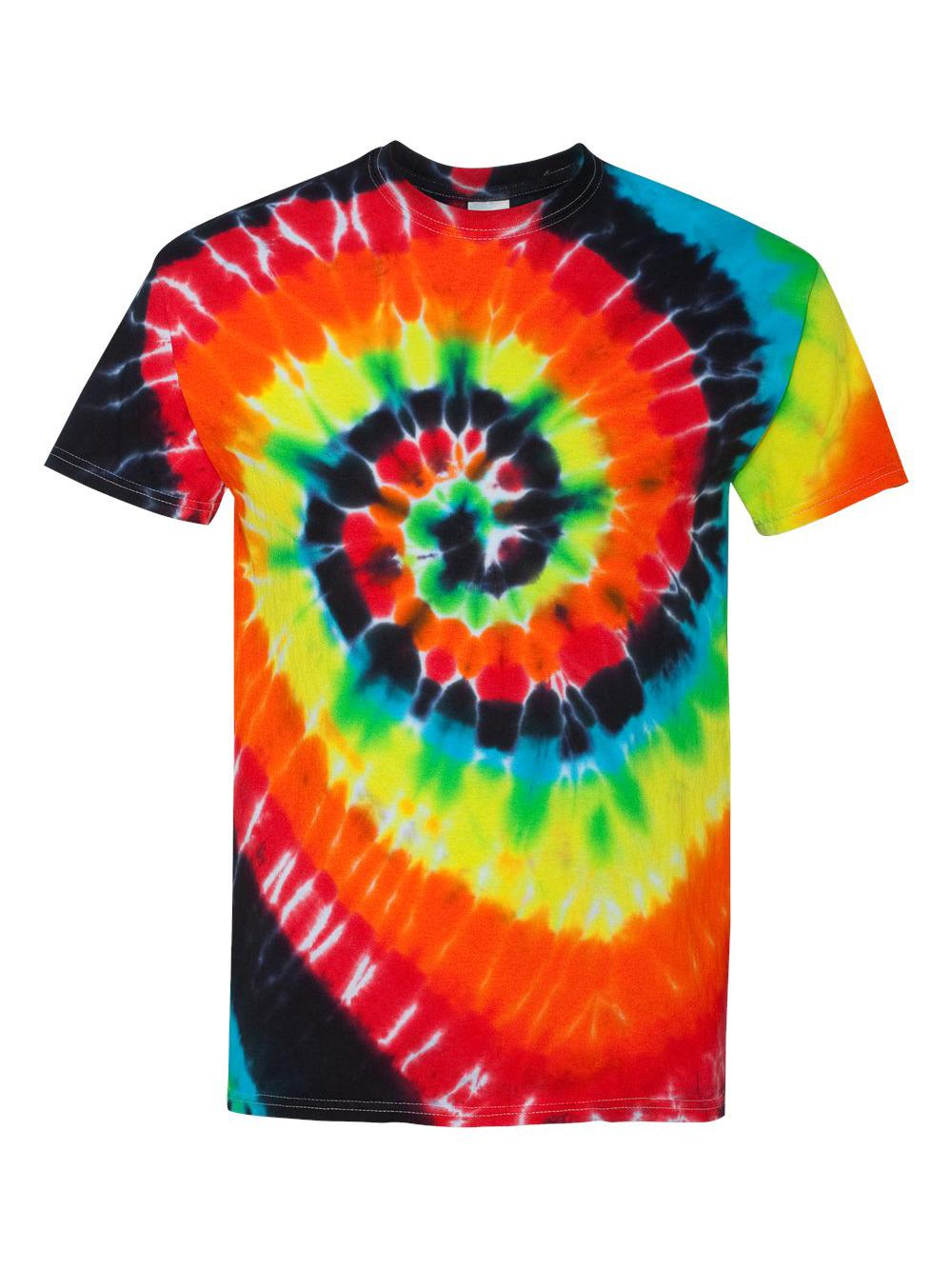 Dyenomite-Multi-Color-Spiral-Short-Sleeve-T-Shirt-200MS thumbnail 26