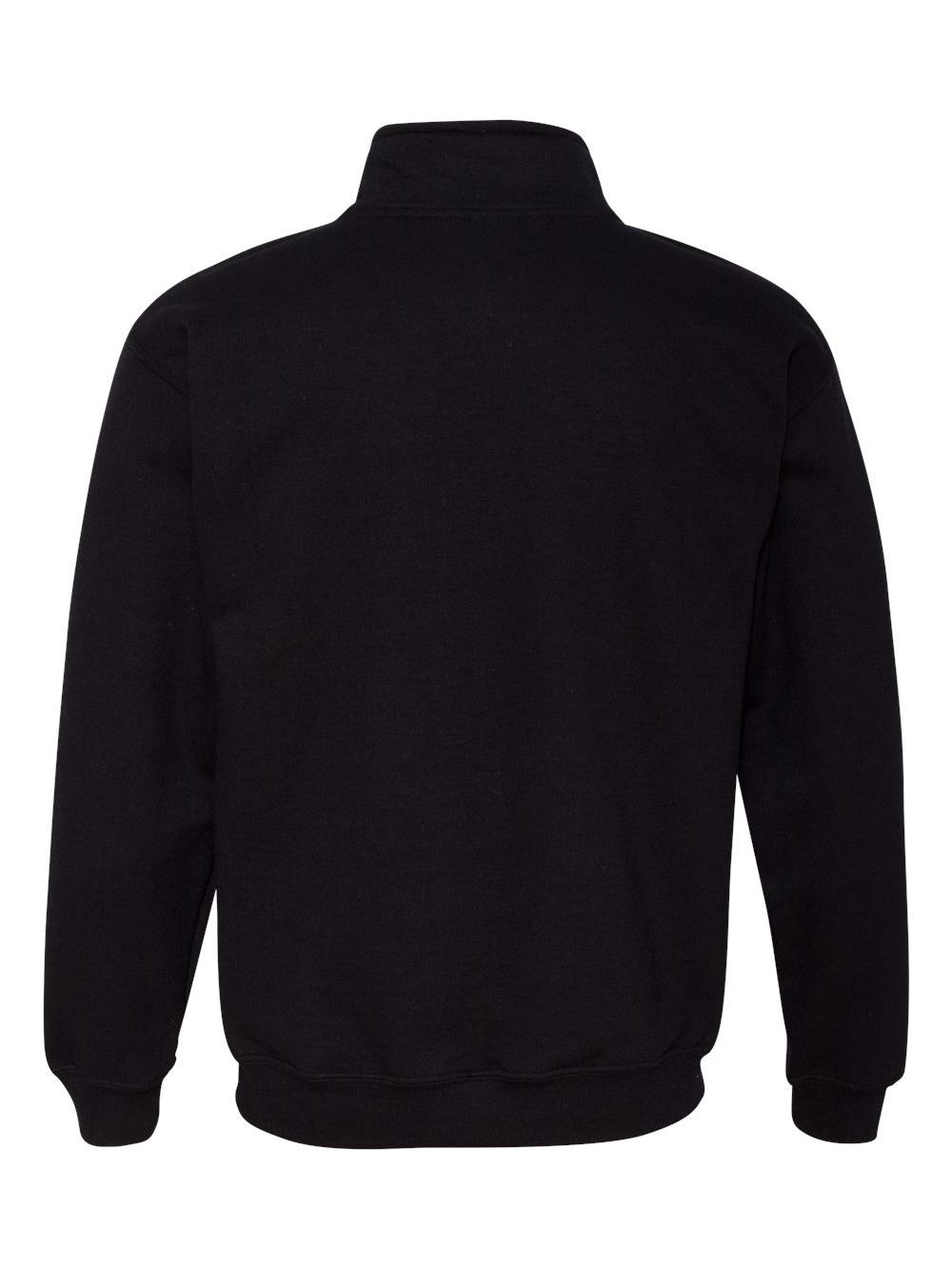 Gildan-Heavy-Blend-Quarter-Zip-Cadet-Collar-Sweatshirt-18800 thumbnail 4