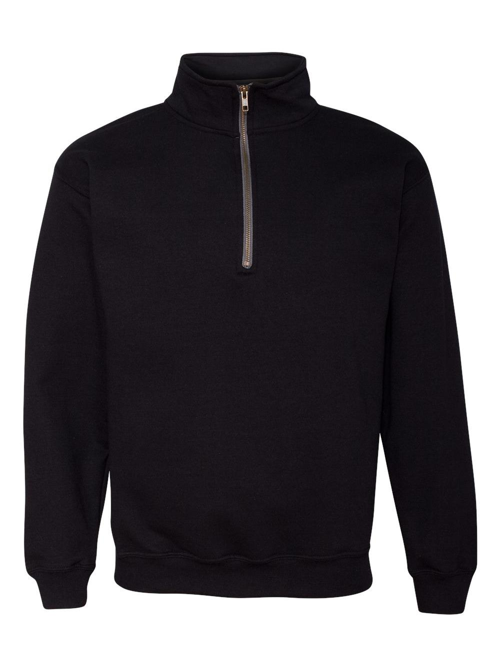 Gildan-Heavy-Blend-Quarter-Zip-Cadet-Collar-Sweatshirt-18800 thumbnail 3