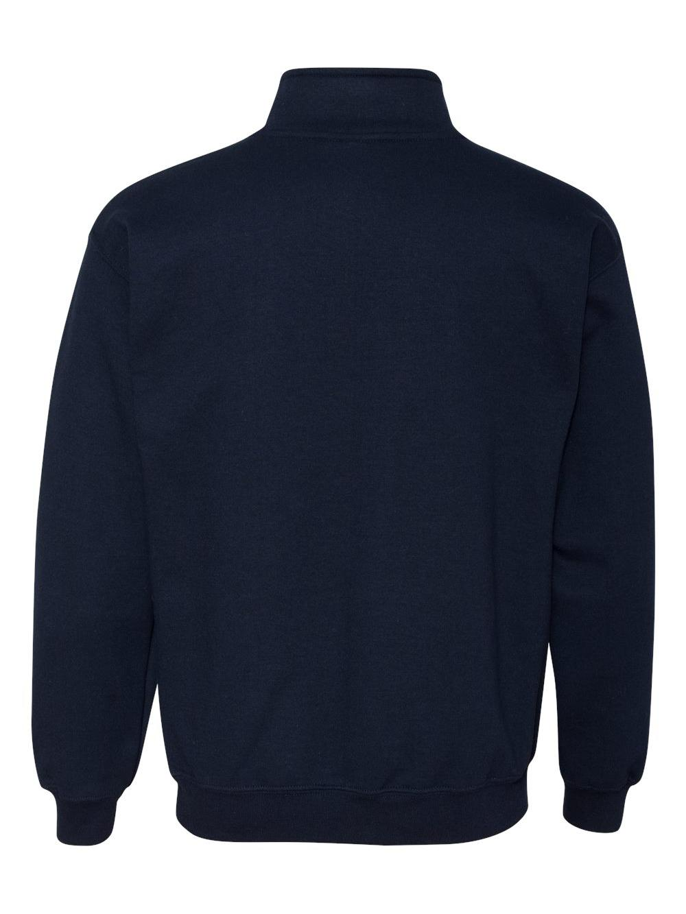 Gildan-Heavy-Blend-Quarter-Zip-Cadet-Collar-Sweatshirt-18800 thumbnail 19