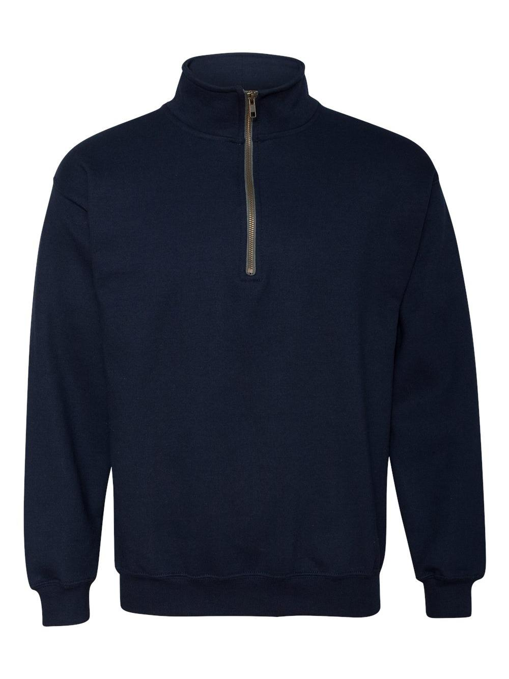 Gildan-Heavy-Blend-Quarter-Zip-Cadet-Collar-Sweatshirt-18800 thumbnail 18