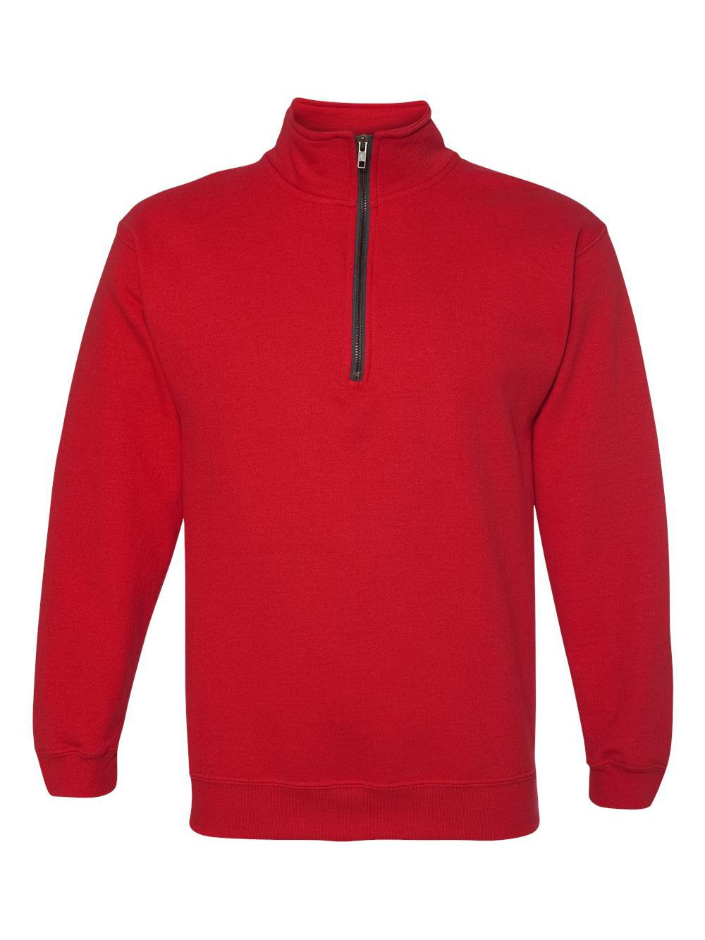 Gildan-Heavy-Blend-Quarter-Zip-Cadet-Collar-Sweatshirt-18800 thumbnail 24