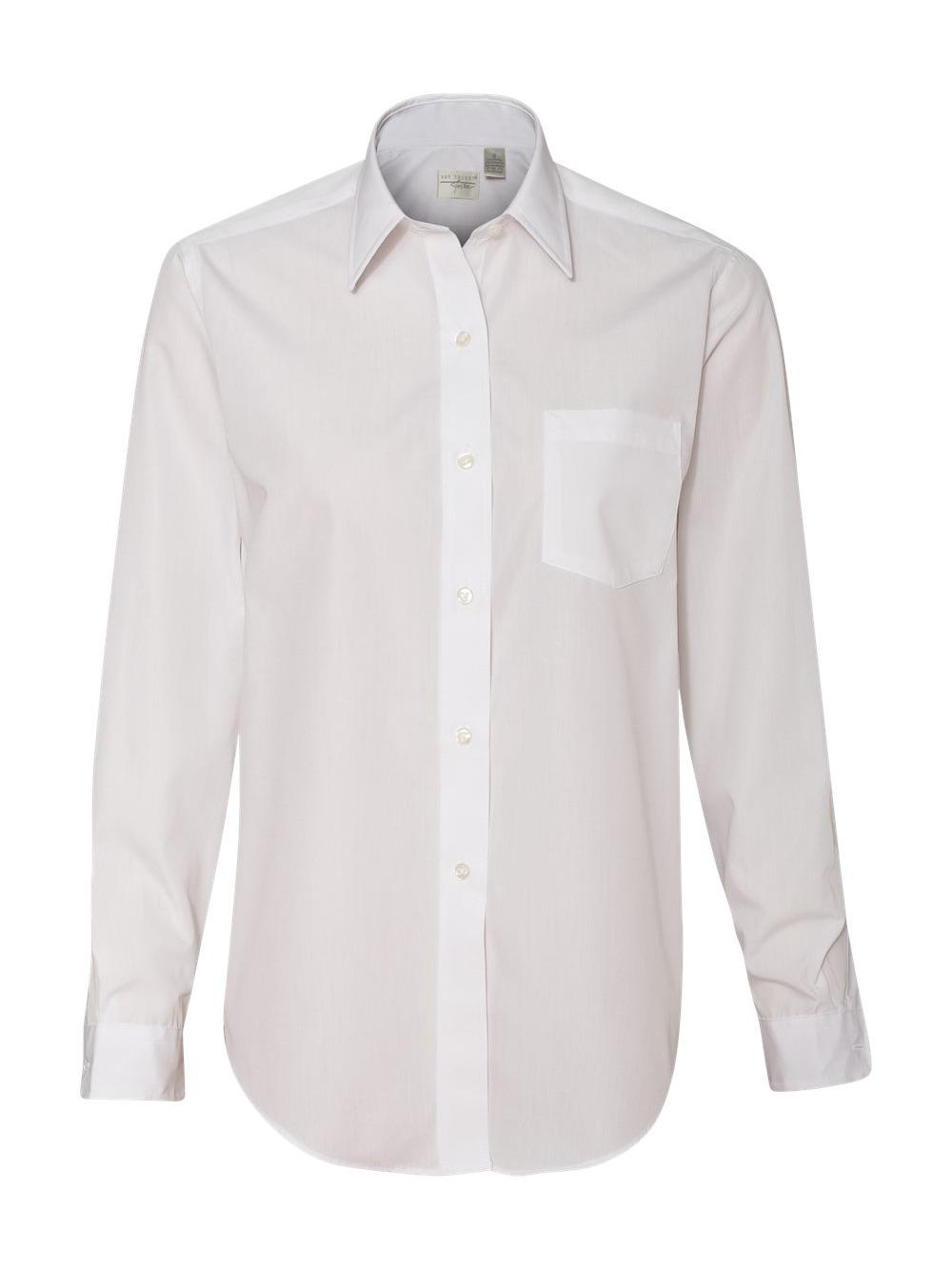 Van-Heusen-Women-039-s-Broadcloth-Long-Sleeve-Shirt-13V0216 thumbnail 6