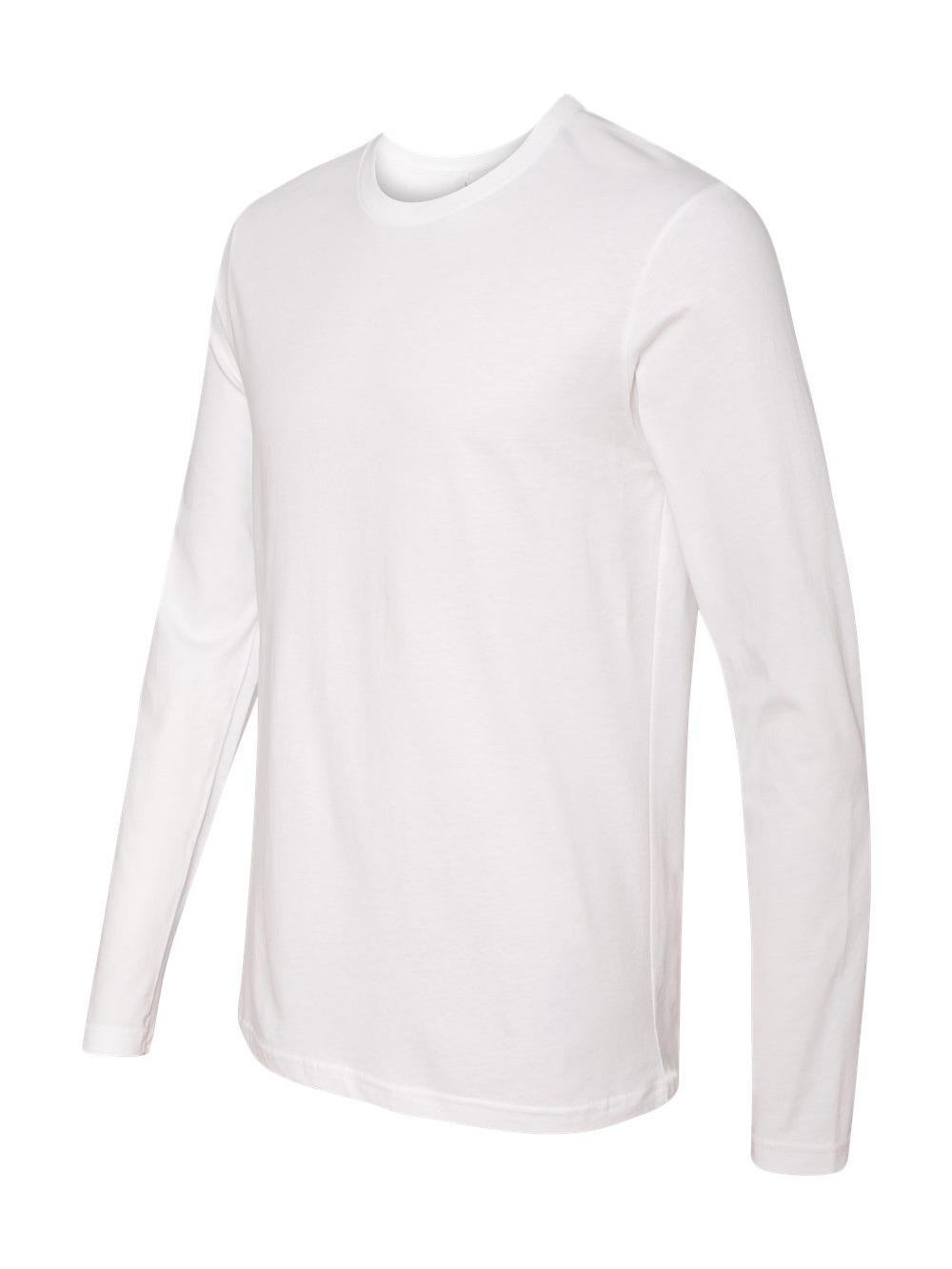 Next Level Mens Premium Fitted Cotton Long Sleeve Crew T Shirt 3601 up to  2xl White S. About this product. Picture 1 of 4  Picture 2 of 4  Picture 3  of 4 ... ca1025d82b97d