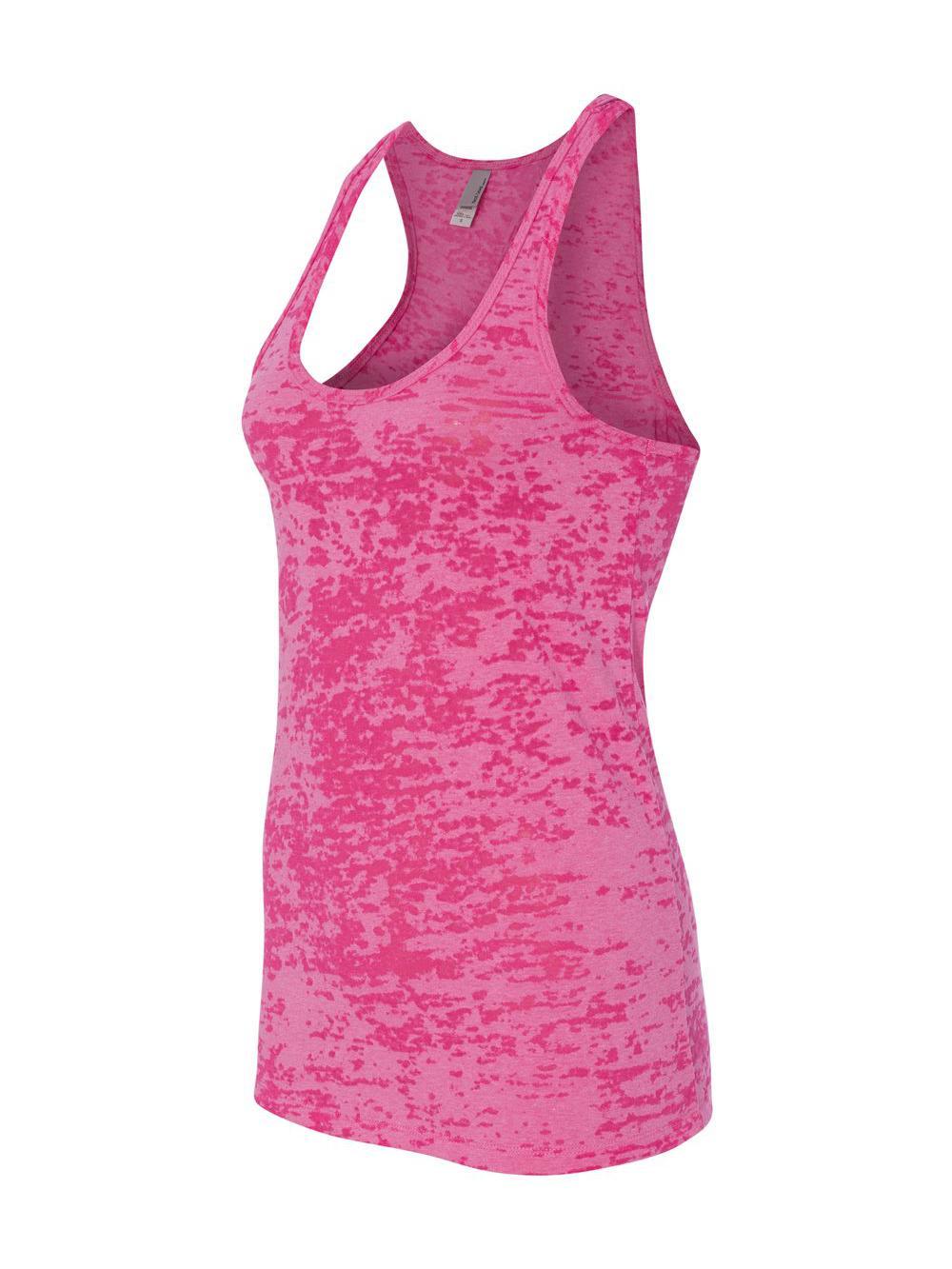 5877416ecc814 Next Level Ladies  Burnout Razor Tank Top N6533 Shocking Pink Medium ...